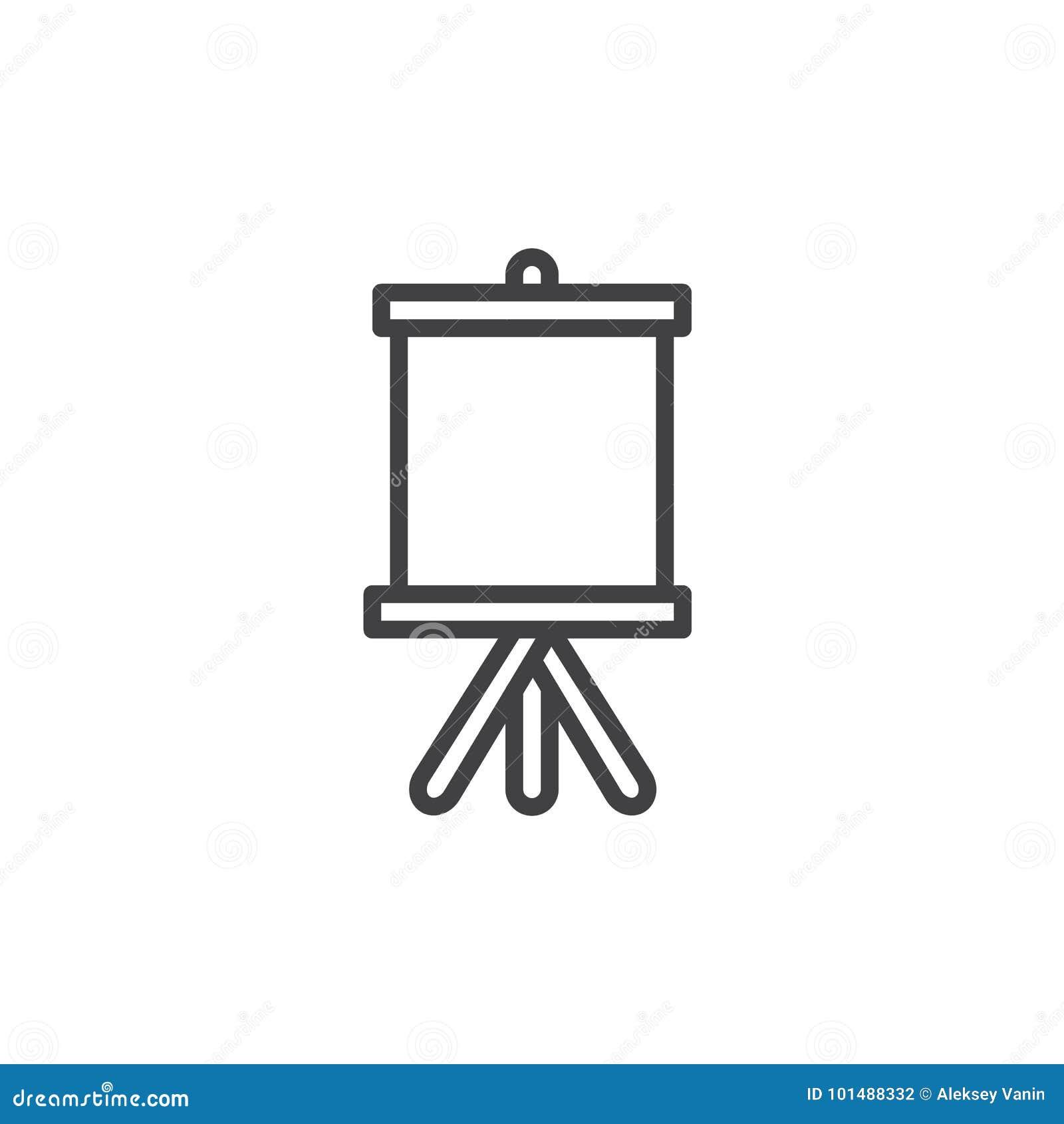 Linha ícone da lona