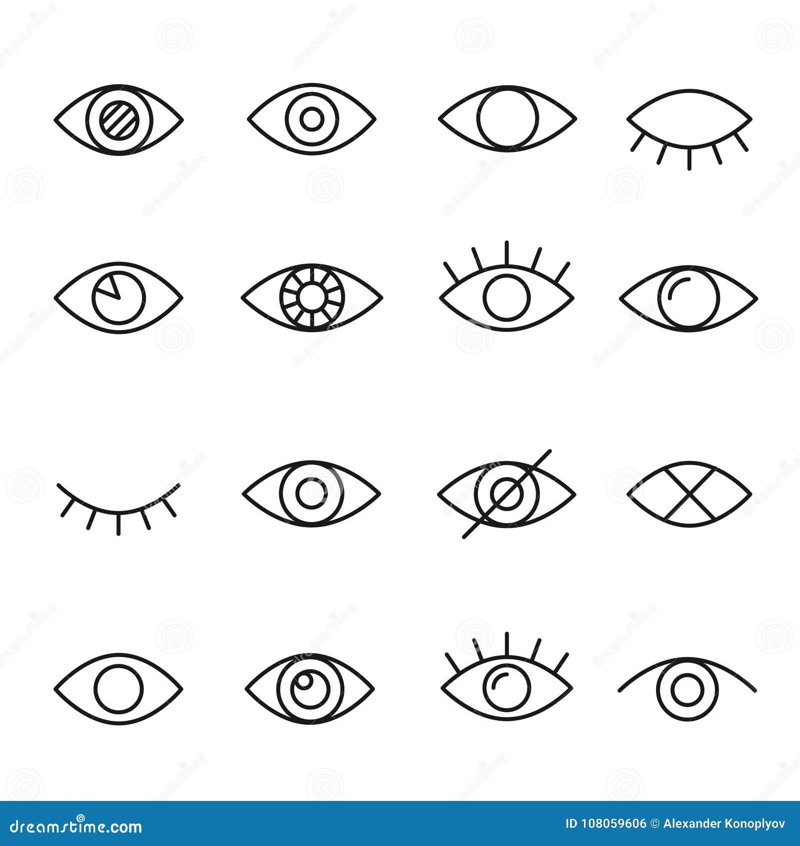 Linha ícone do olho