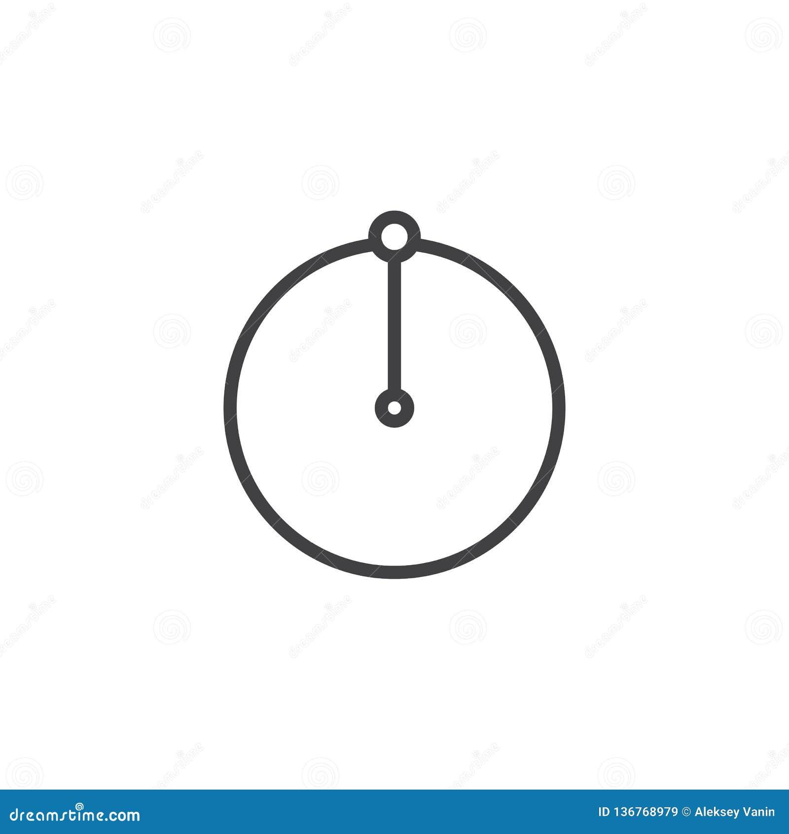 Linha ícone do raio do círculo