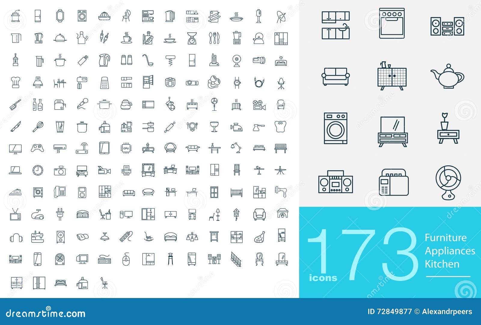 173 linha ícones