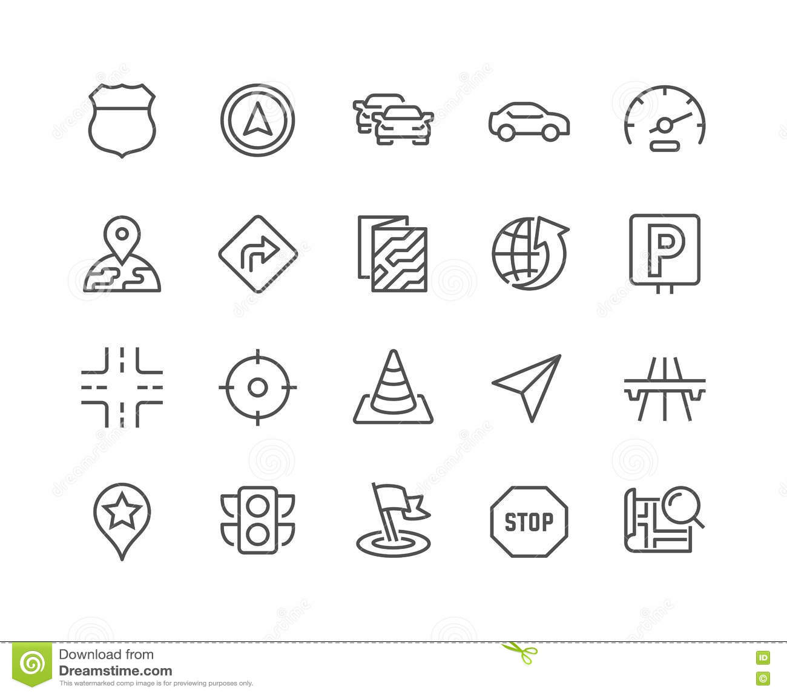 Linha ícones da navegação