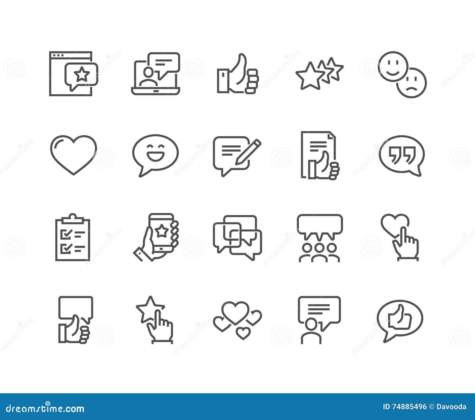 Linha ícones das homenagens