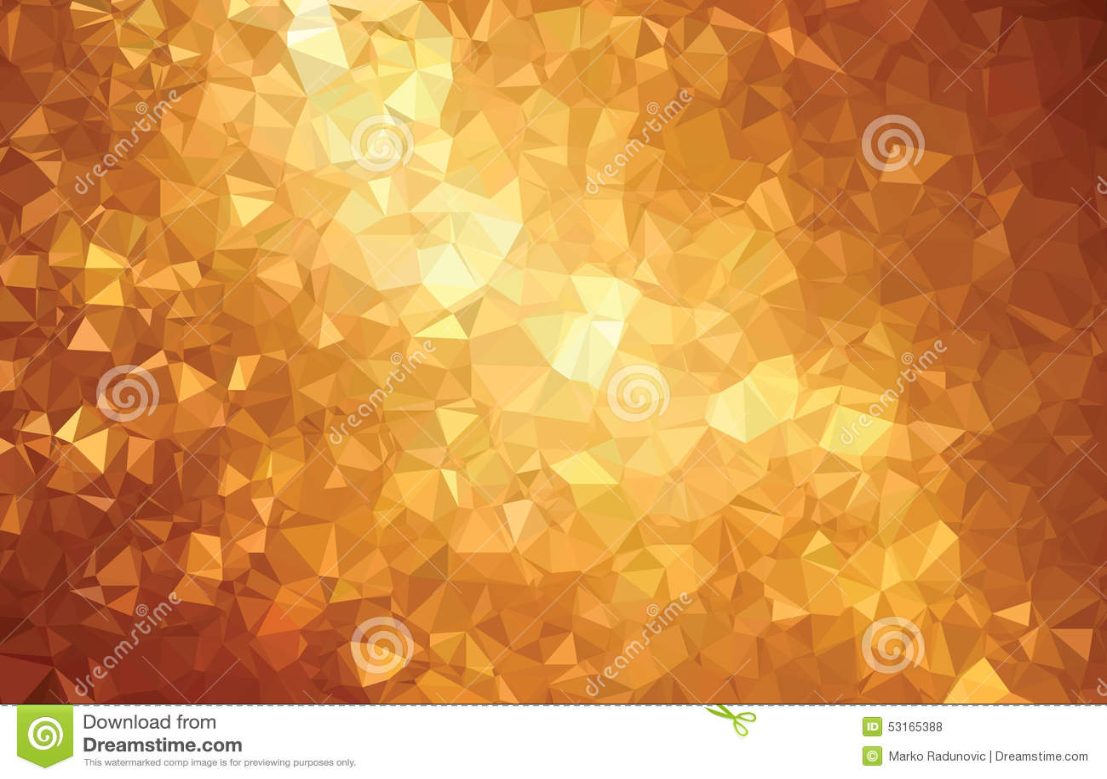 Linha abstrata do ouro do teste padrão da geometria do triângulo do fundo