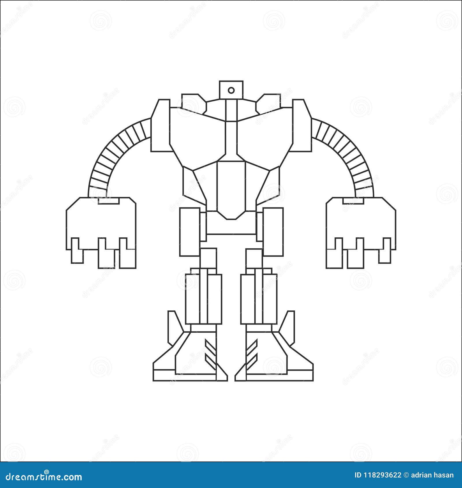 Linha arte do robô