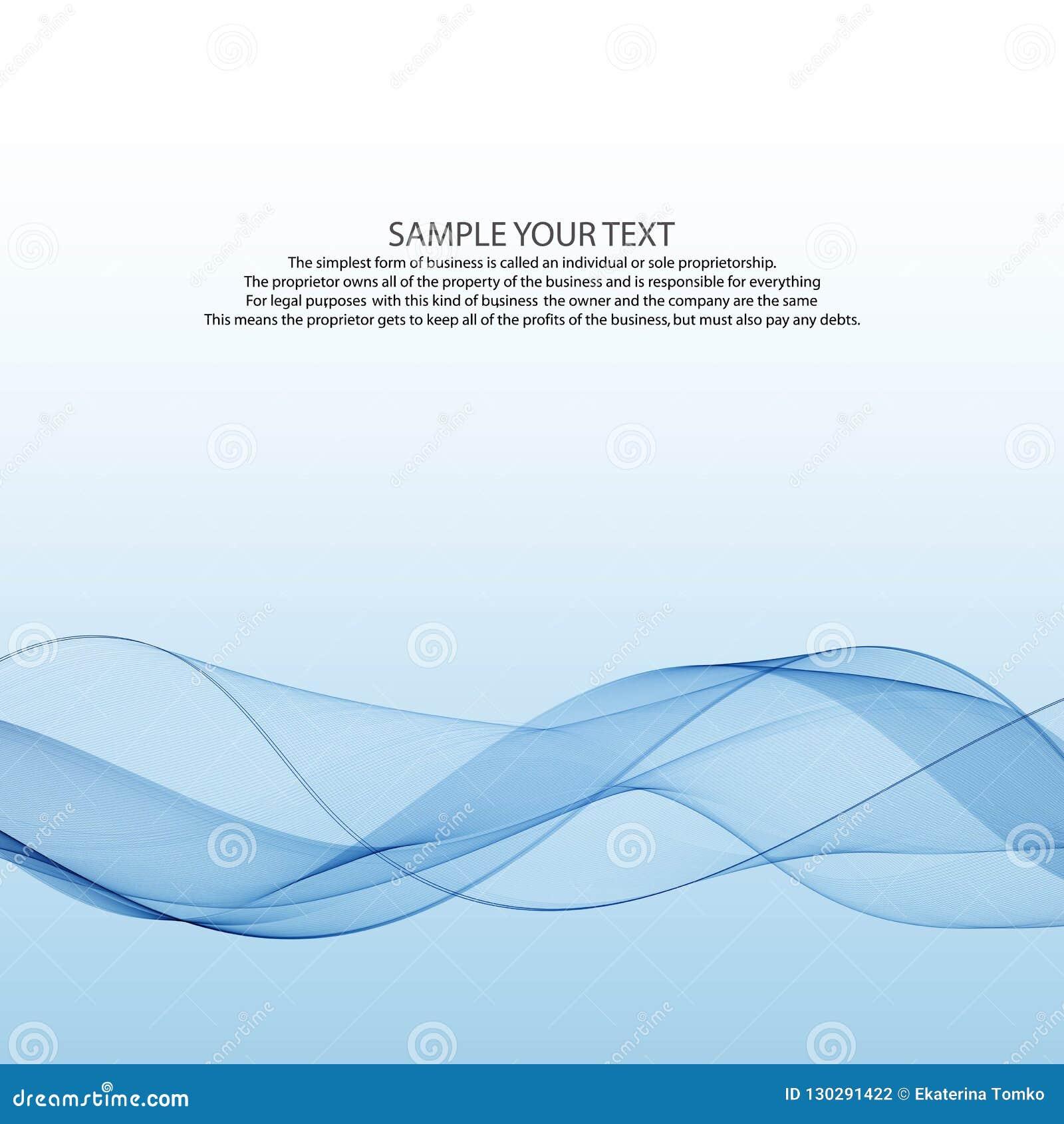 Linha azul da velocidade transparente gráfica pairosa elegante abstrata brilhante moderna da forma do swoosh do vento do fumo sob