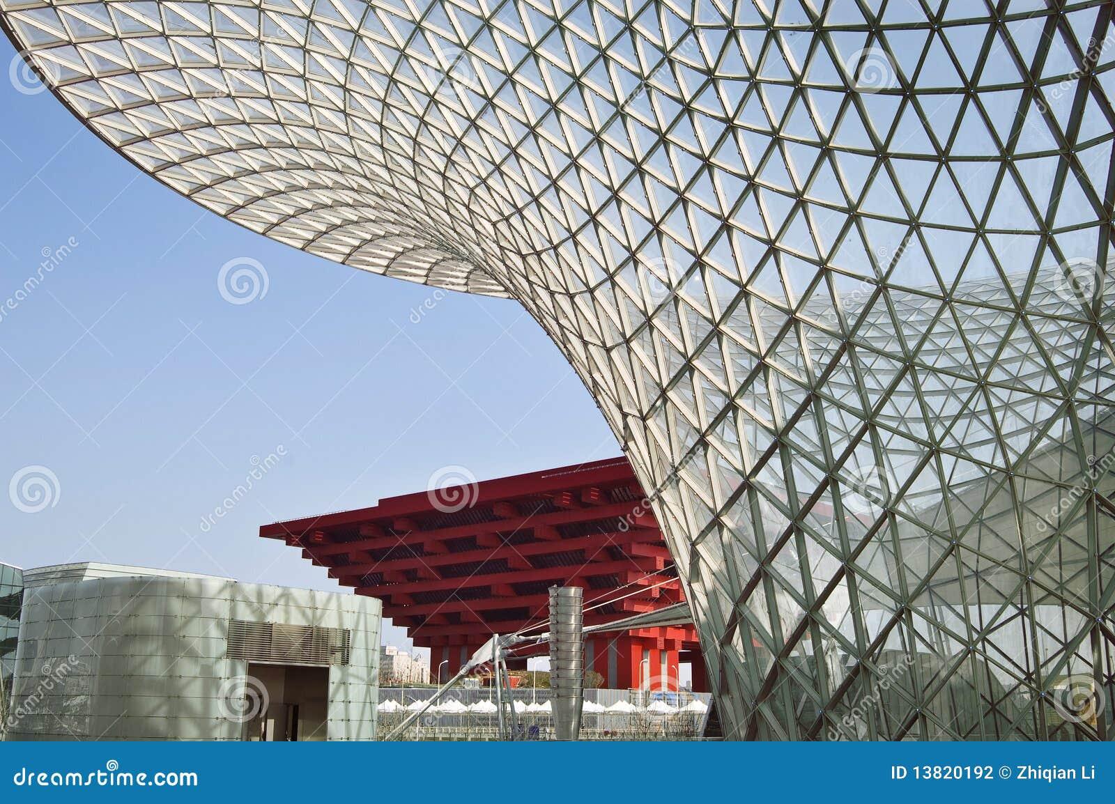 Linha central do pavilhão 2010 e da expo de Shanghai China