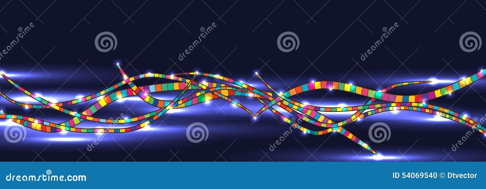 Linha colorida bandeira brilhante escura
