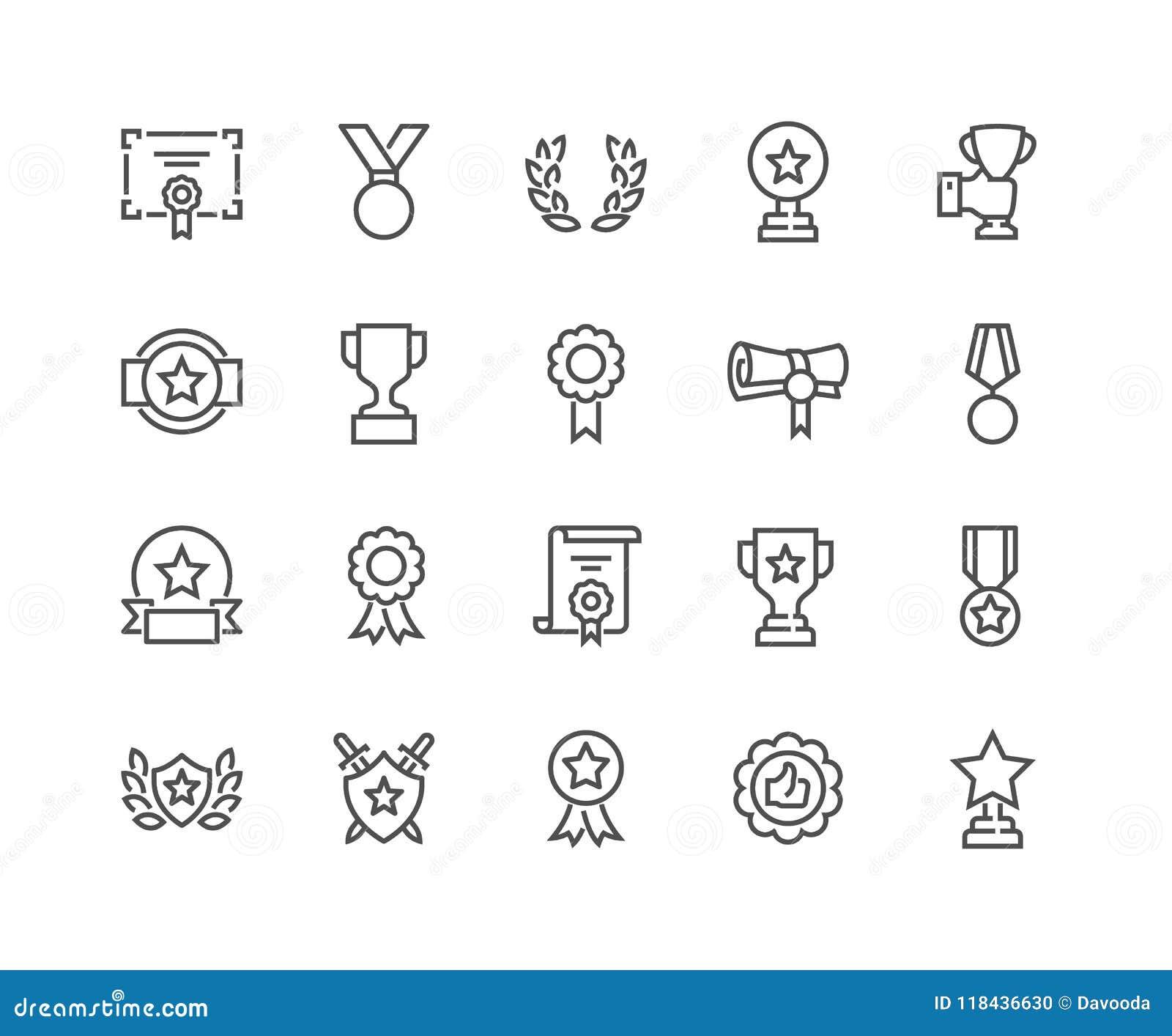 A linha concede ícones