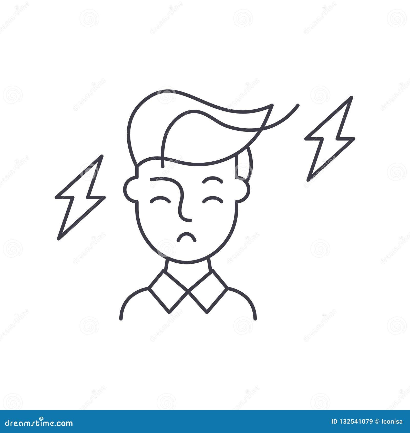 Linha conceito da reflexão do ícone Ilustração linear do vetor da reflexão, símbolo, sinal