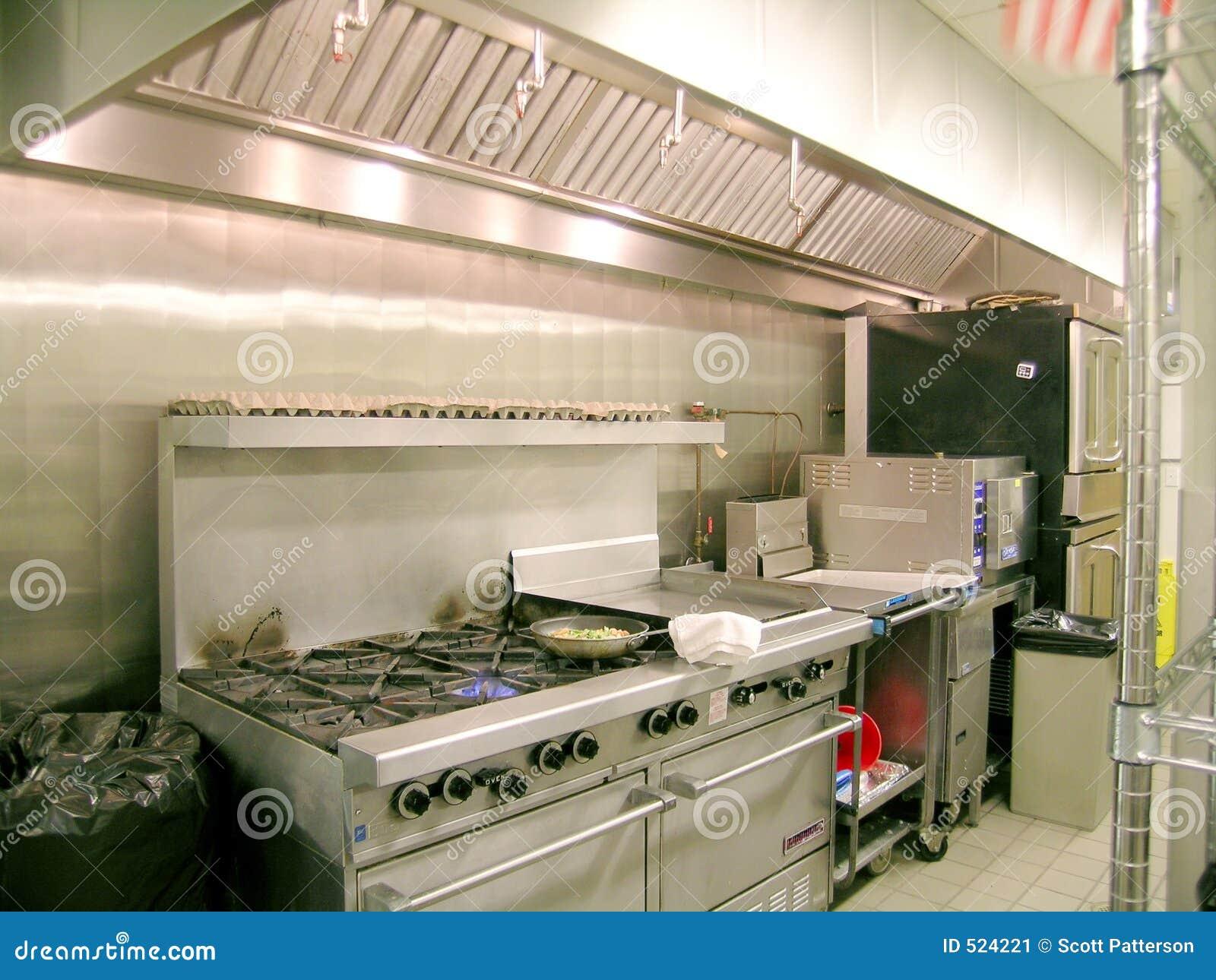 Linha Da Cozinha Industrial Imagem de Stock Imagem: 524221 #A4A724 1300 1065