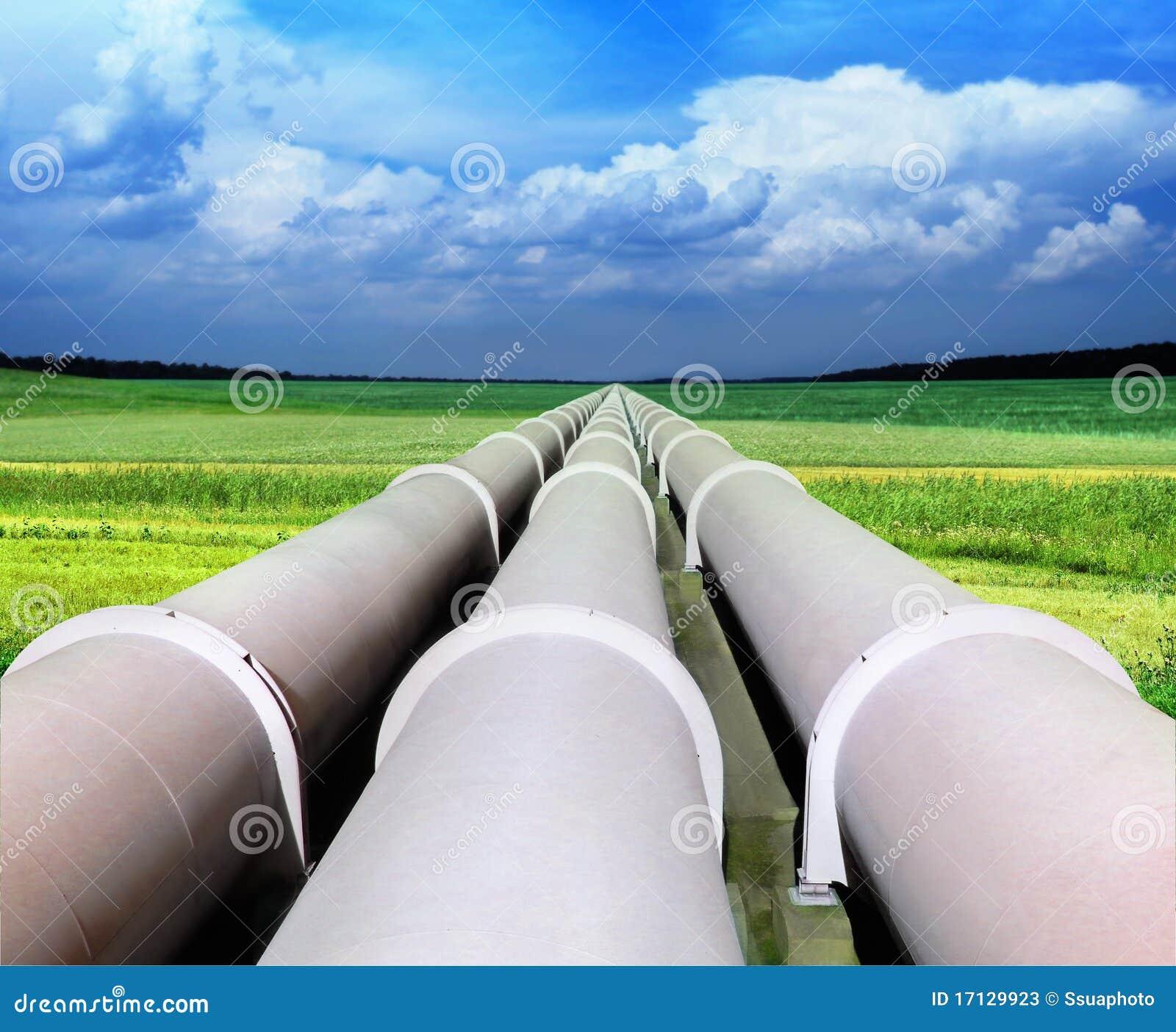 Linha da tubulação de gás
