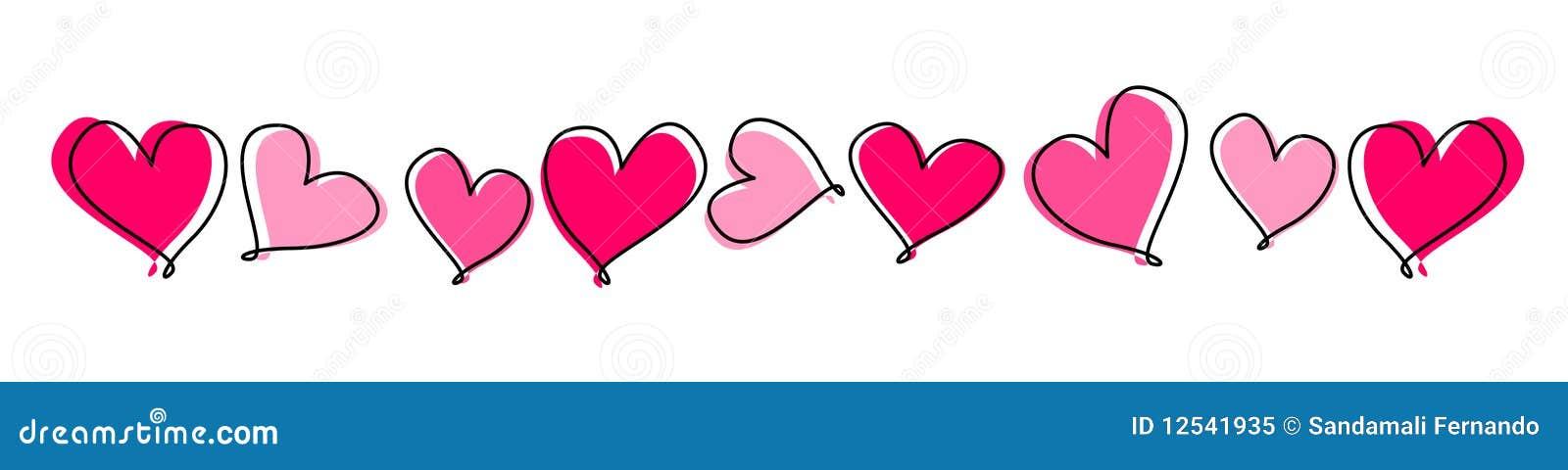 Linha de corações/divisor
