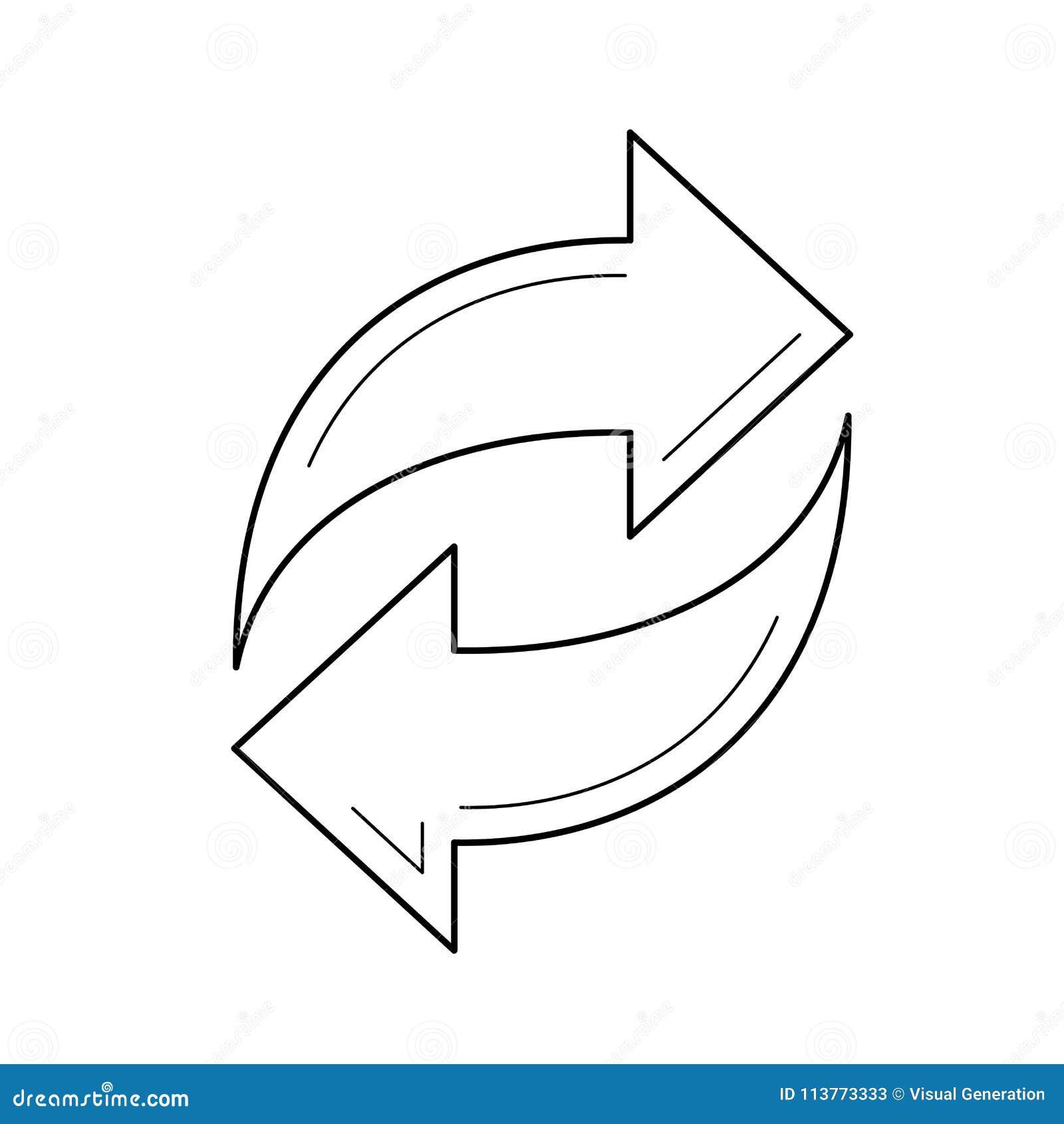Linha de dados ícone de Synch