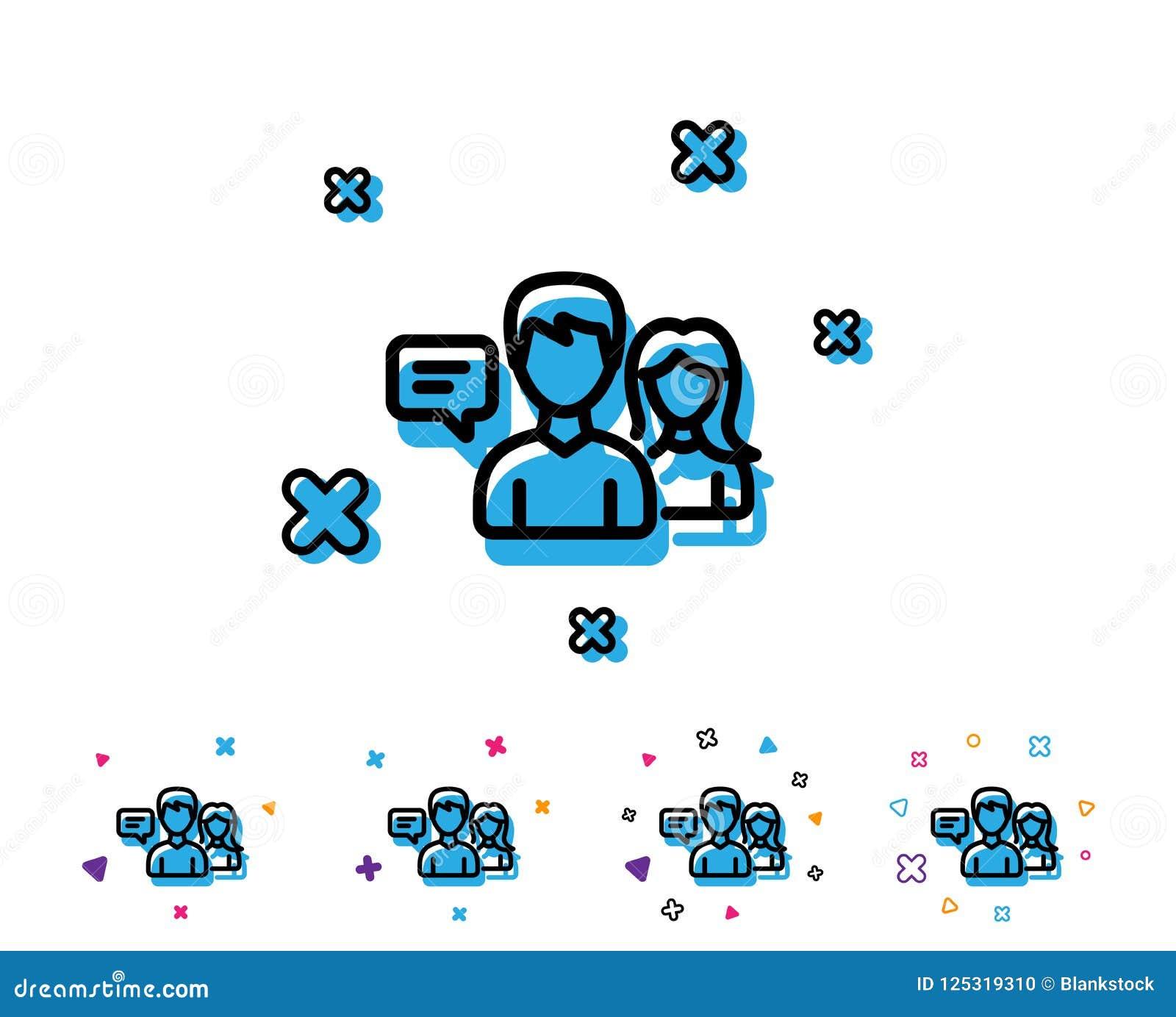 Linha de fala ícone dos povos Sinal da conversação