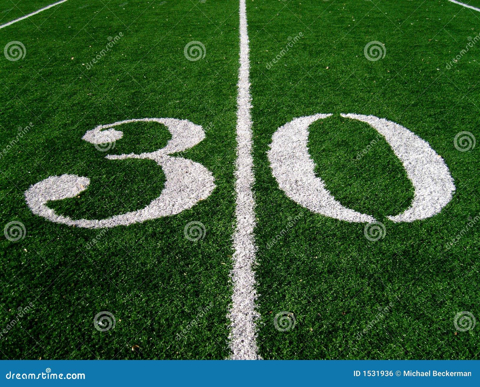 Linha de jardas 30
