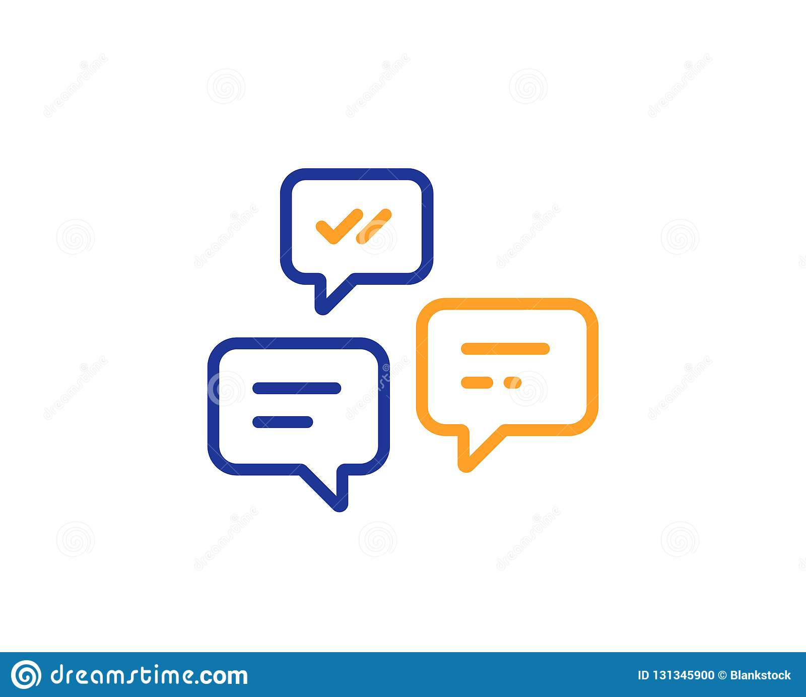 Linha de mensagens ícone do bate-papo Conversação ou SMS Vetor
