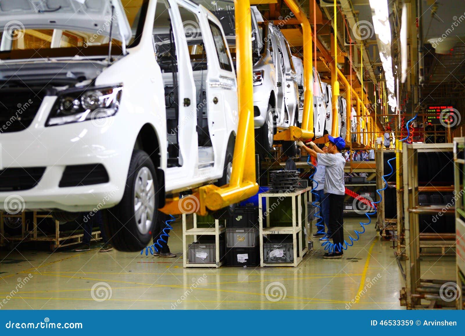 Linha de produção do carro