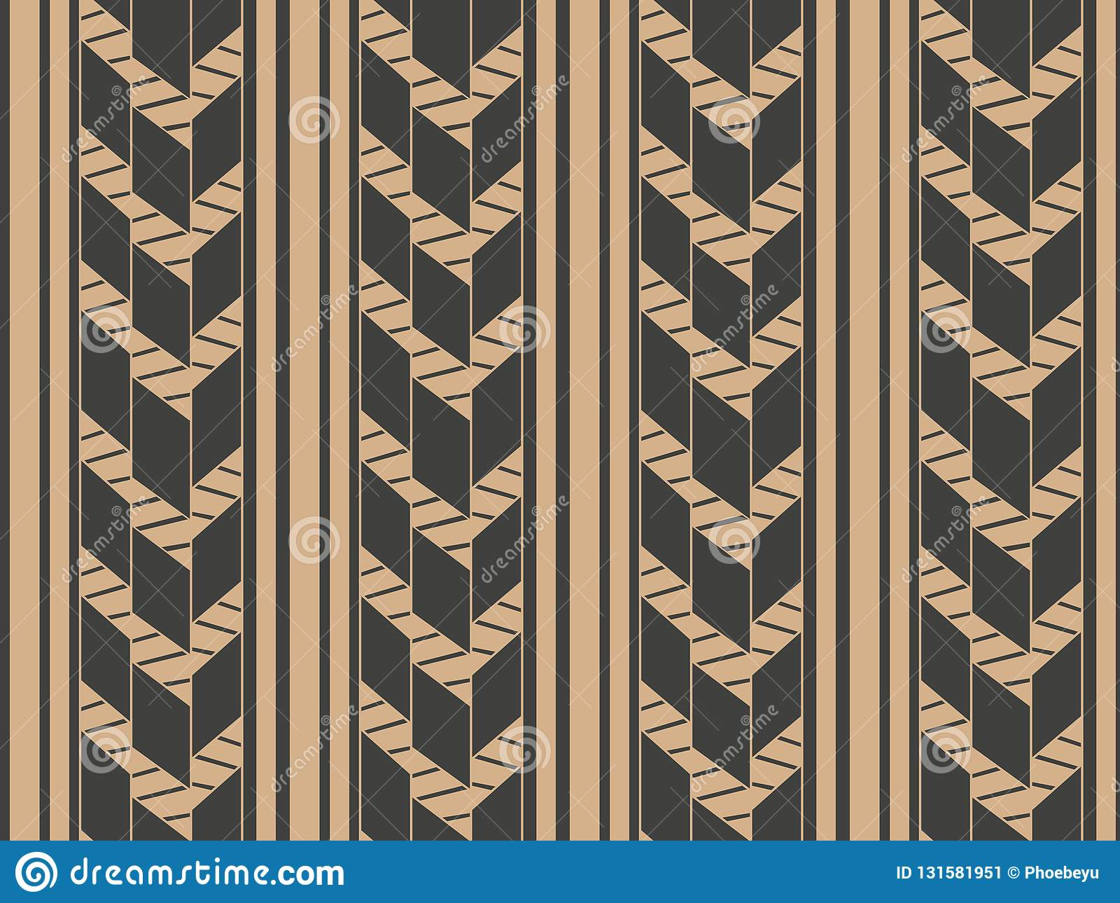 Linha de quadro retro sem emenda da cruz da geometria do fundo do teste padrão do damasco do vetor Projeto marrom luxuoso elegant