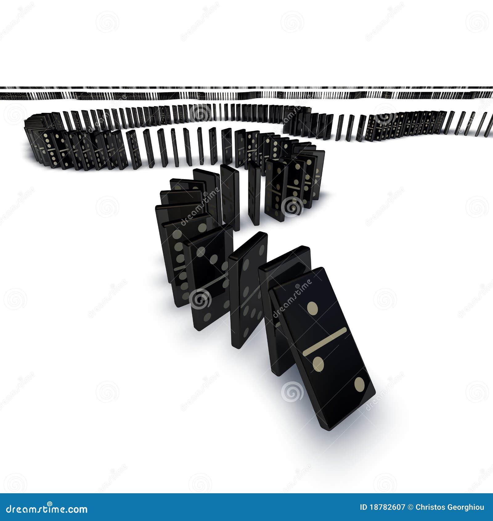 Linha de queda dos dominós