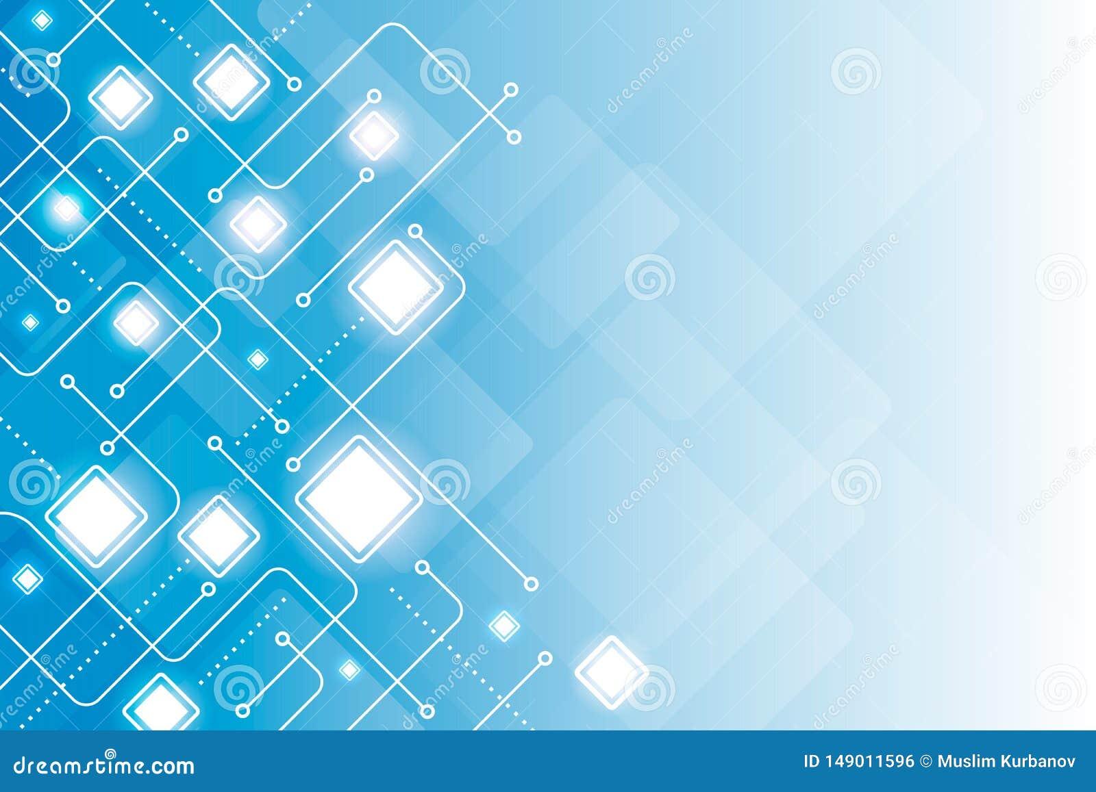 Linha digital abstrata vetor azul geom?trico do fundo