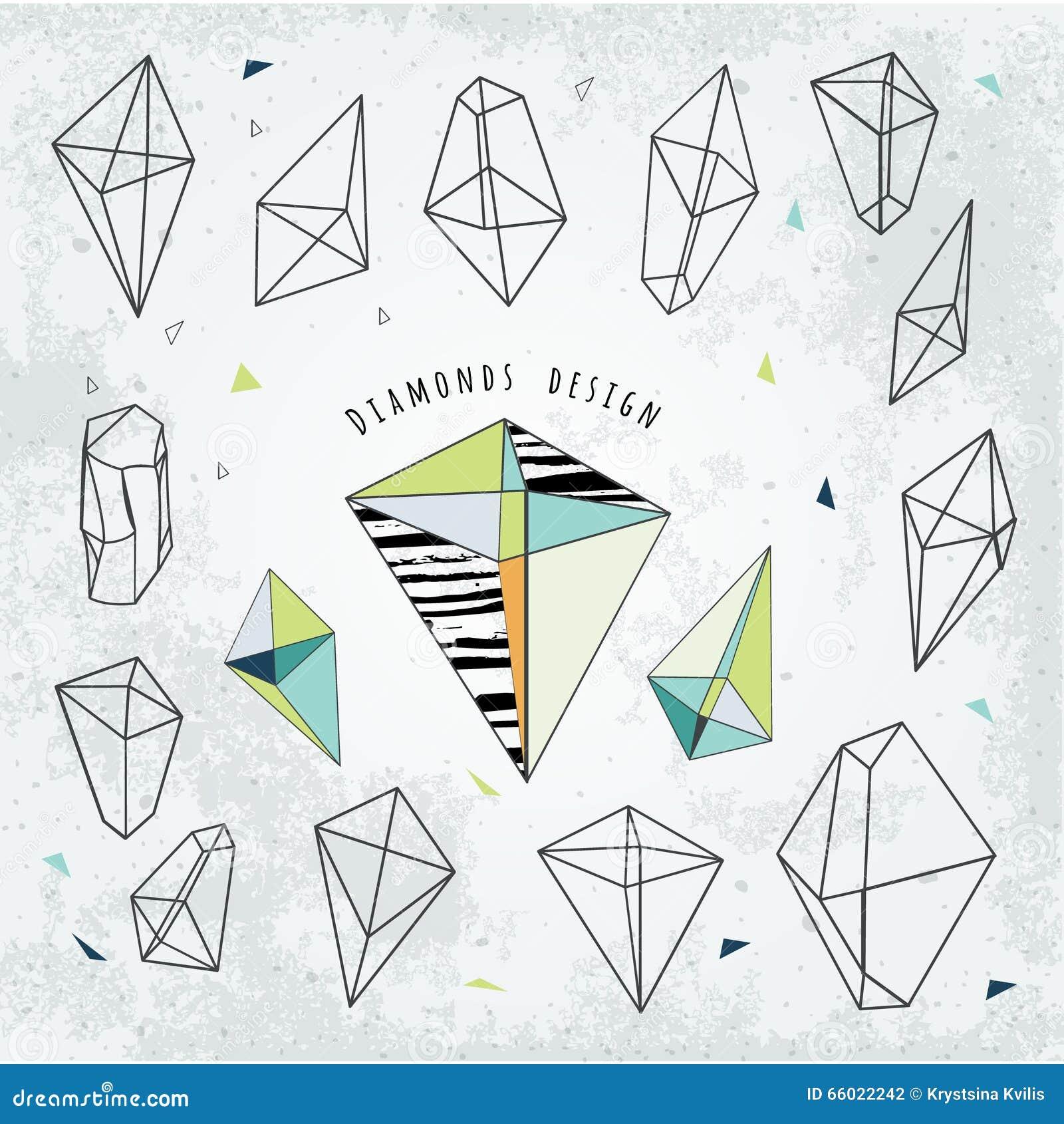 Linha geometria cristal das formas Projeto dos diamantes A alquimia, religio
