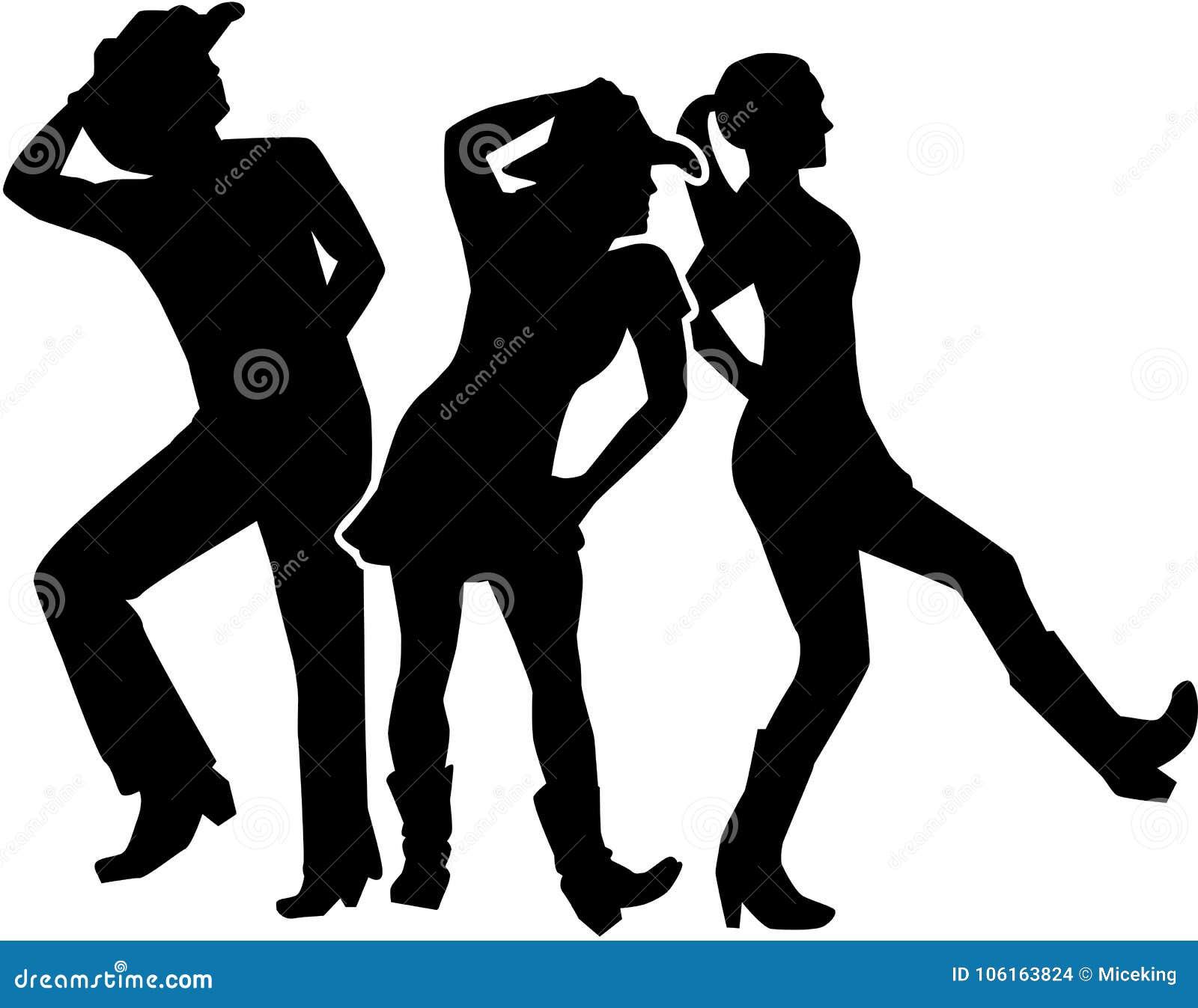 Linha grupo da dança