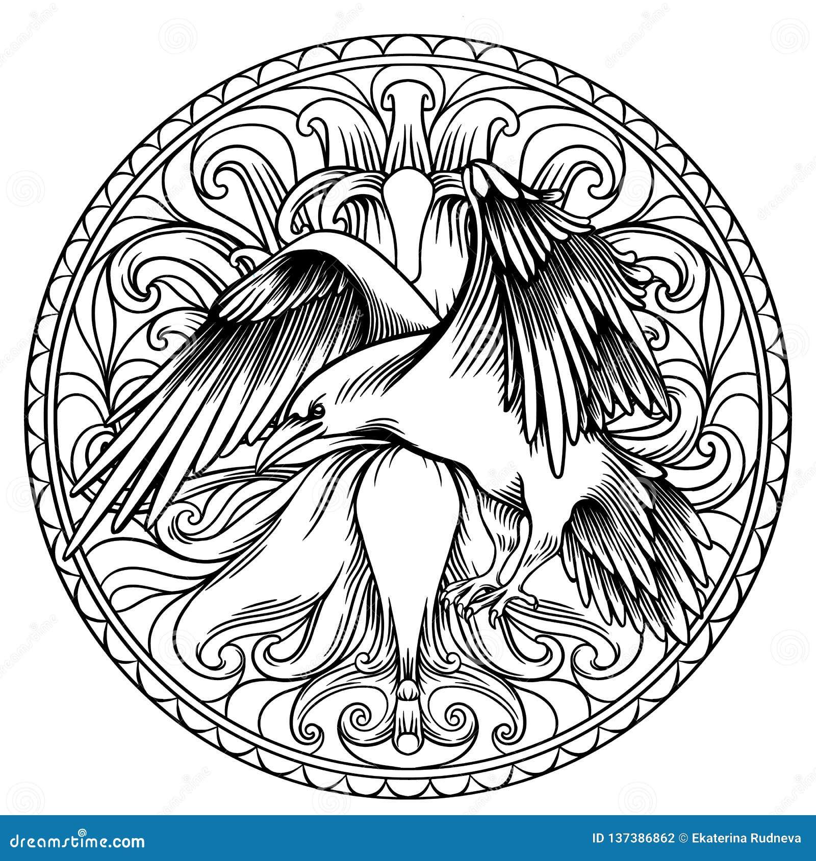 Linha Ilustracao Da Arte Das Asas Do Anjo Com Um Coracao E Um