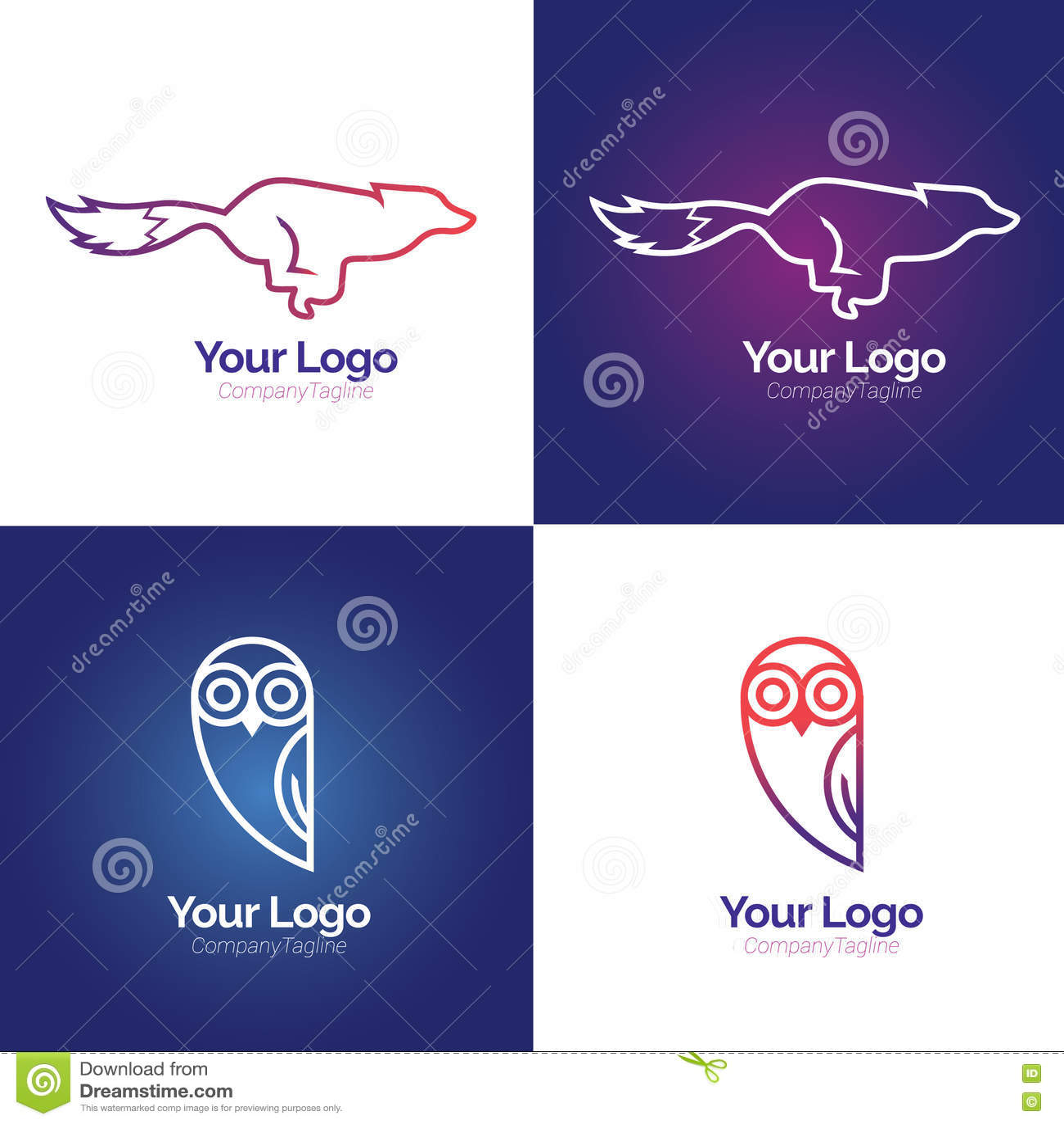 Linha logotipo do animal