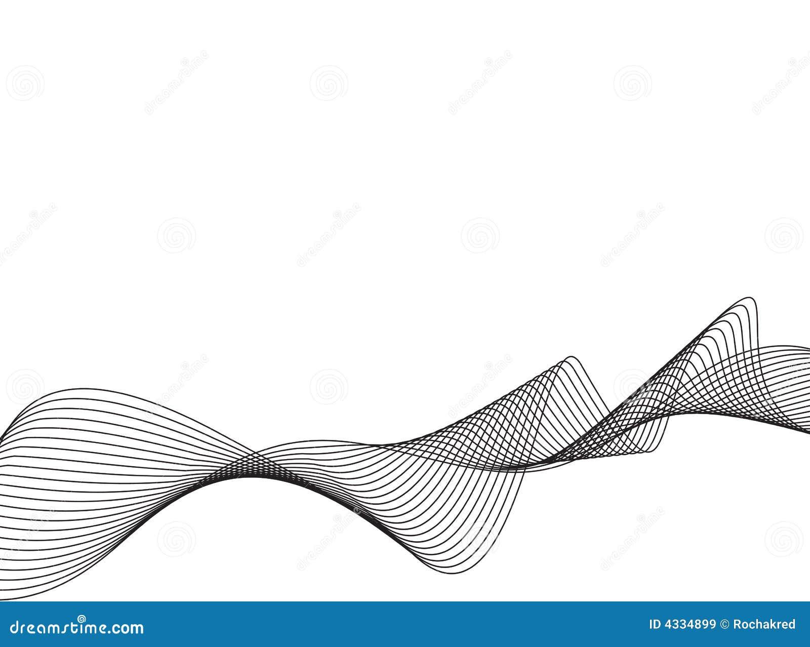 Vector Drawing Lines Libgdx : Linha ondas do vetor da arte ilustração