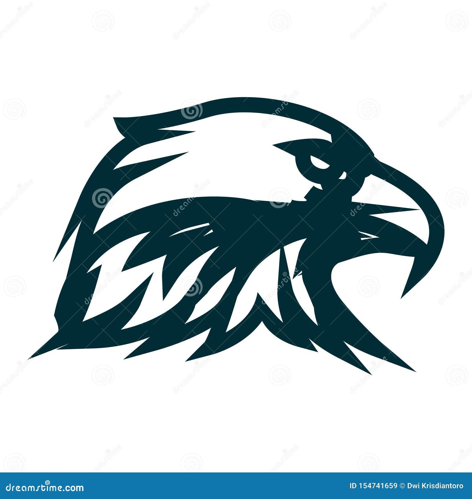 Linha projeto de Eagle do logotipo da arte Ilustra??o do vetor do esbo?o da cabe?a de Eagle Projeto minimalista do ícone da cabeç
