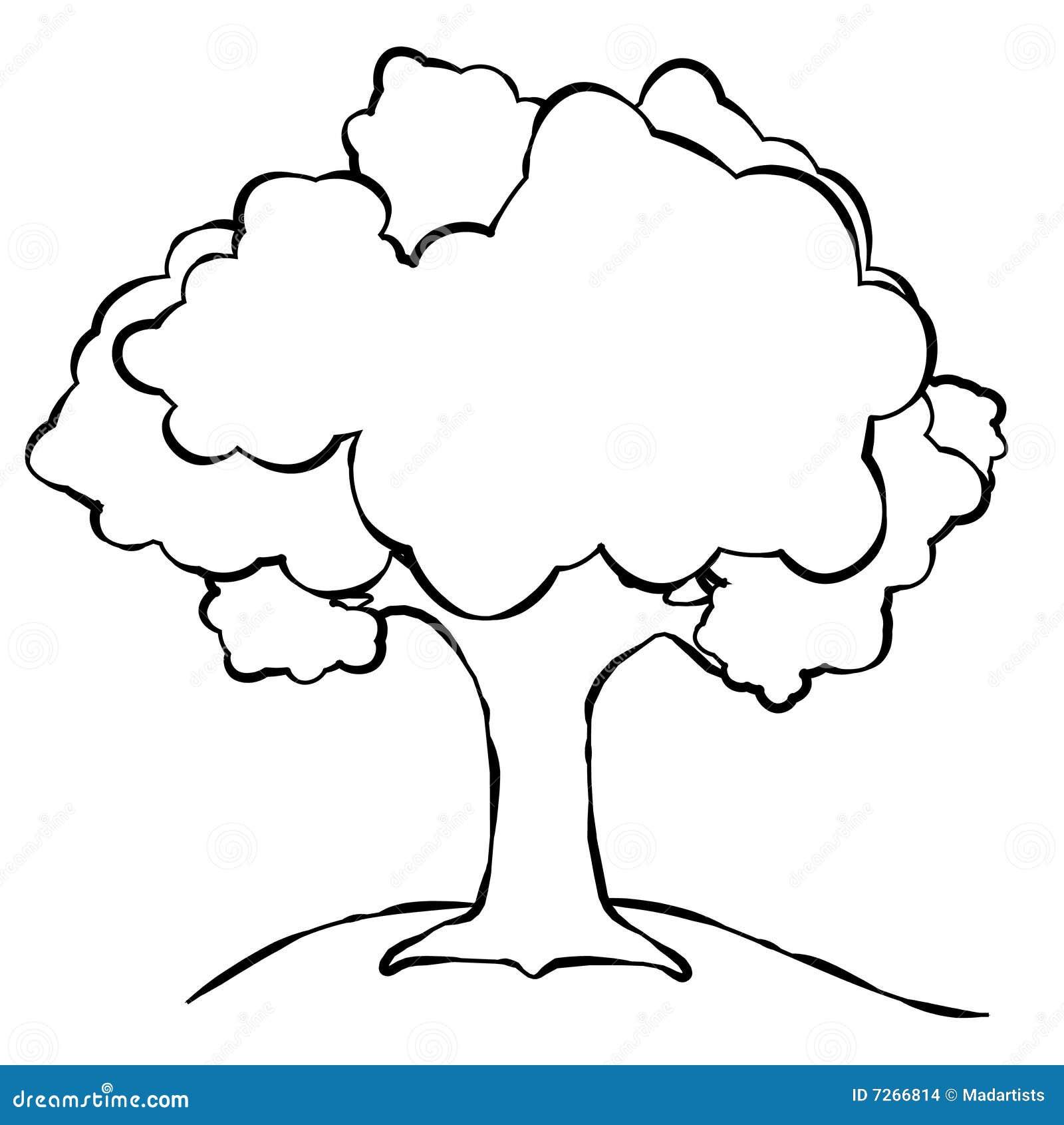 Linha simples arte da árvore
