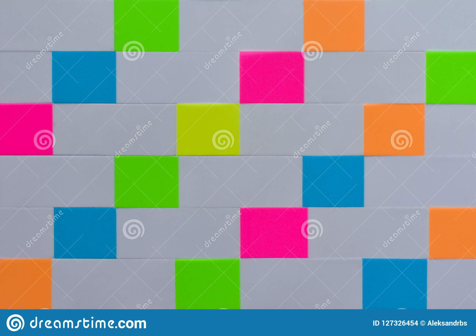 Linha textura do fundo das etiquetas retangulares coloridas do escritório