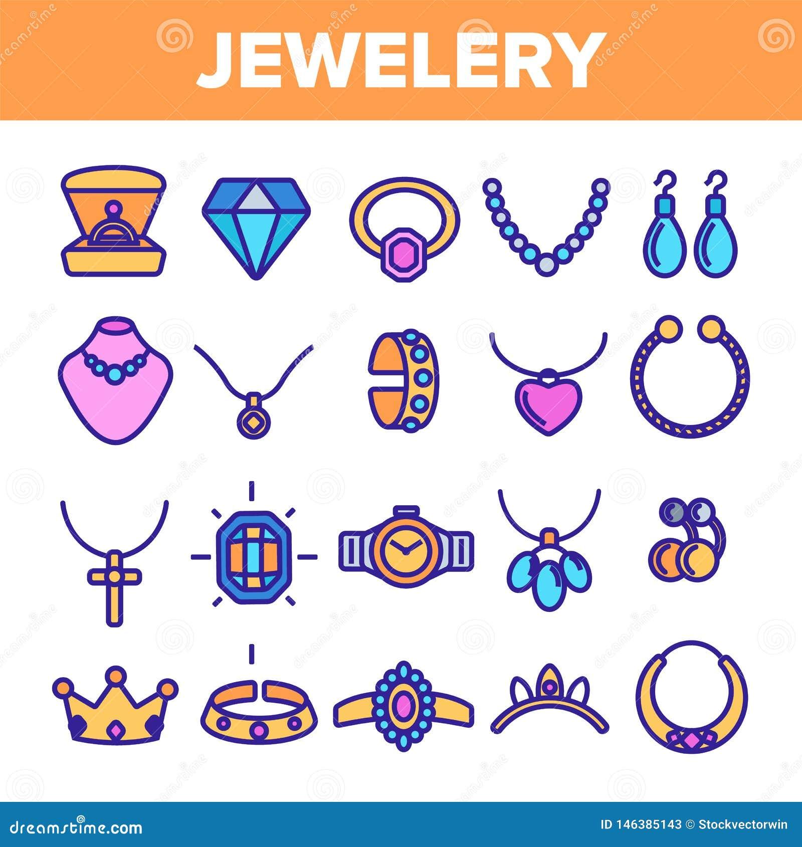 Linha vetor da joia do grupo do ?cone Diamond Luxury Jewelery Symbol Gem Elegance Sign Ilustra??o fina da Web do esbo?o