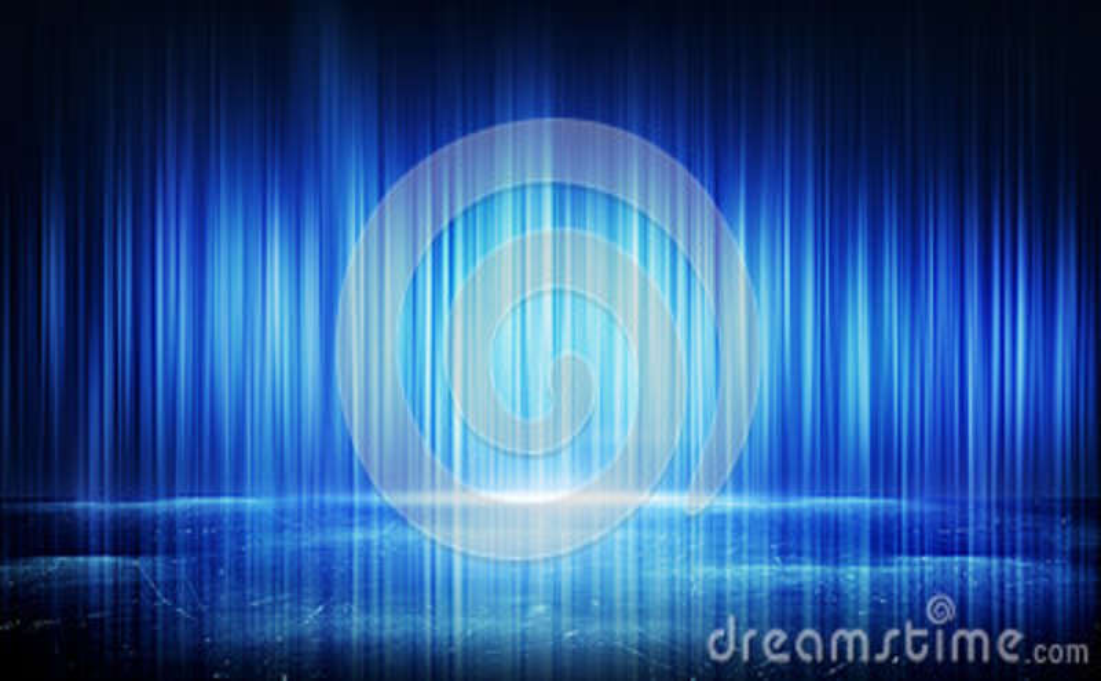 Linhas claras azuis e fundo abstrato da reflexão