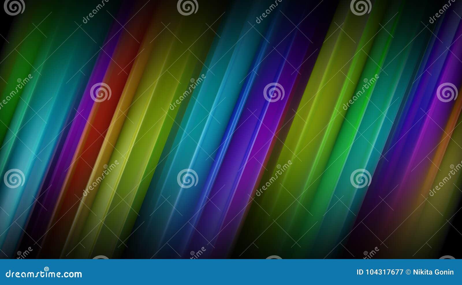 Linhas coloridas diagonais rendição 3D abstrata