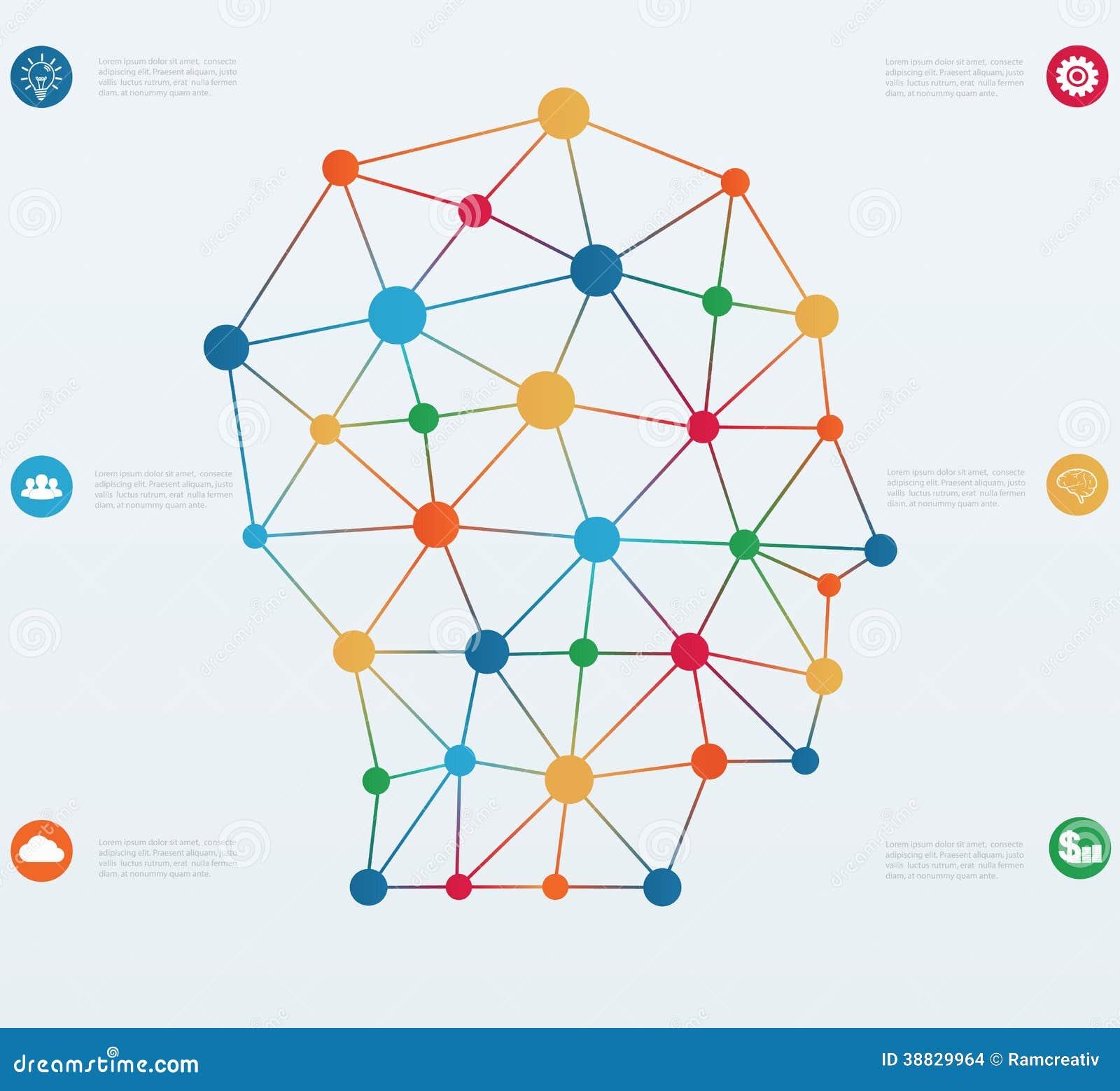 Linhas das conex es de rede ilustra o do vetor imagem for Dreamhome com