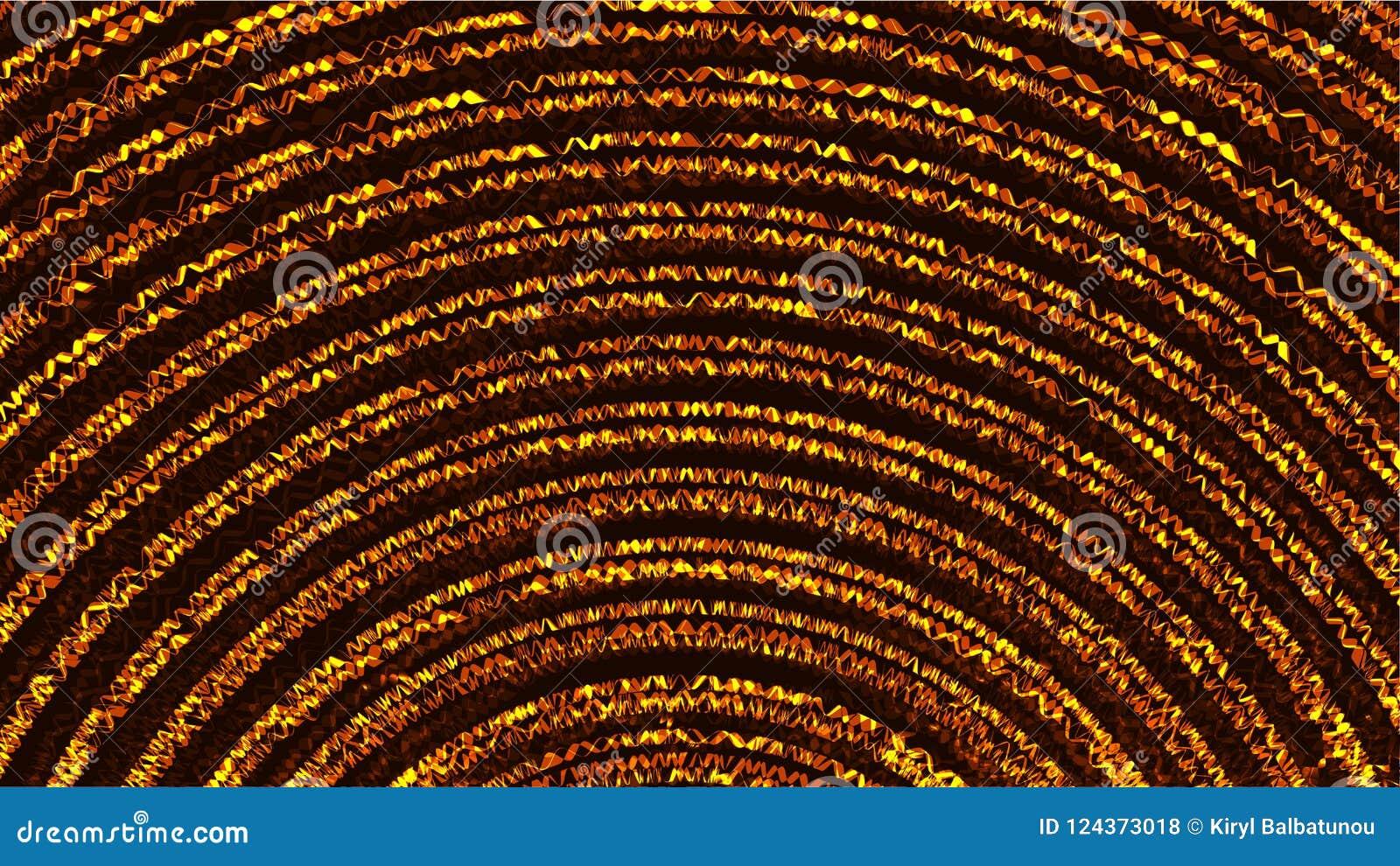 Linhas de néon de brilho brilhantes de incandescência mágicas cósmicas coloridas sumário da textura de ondas das espirais das tir