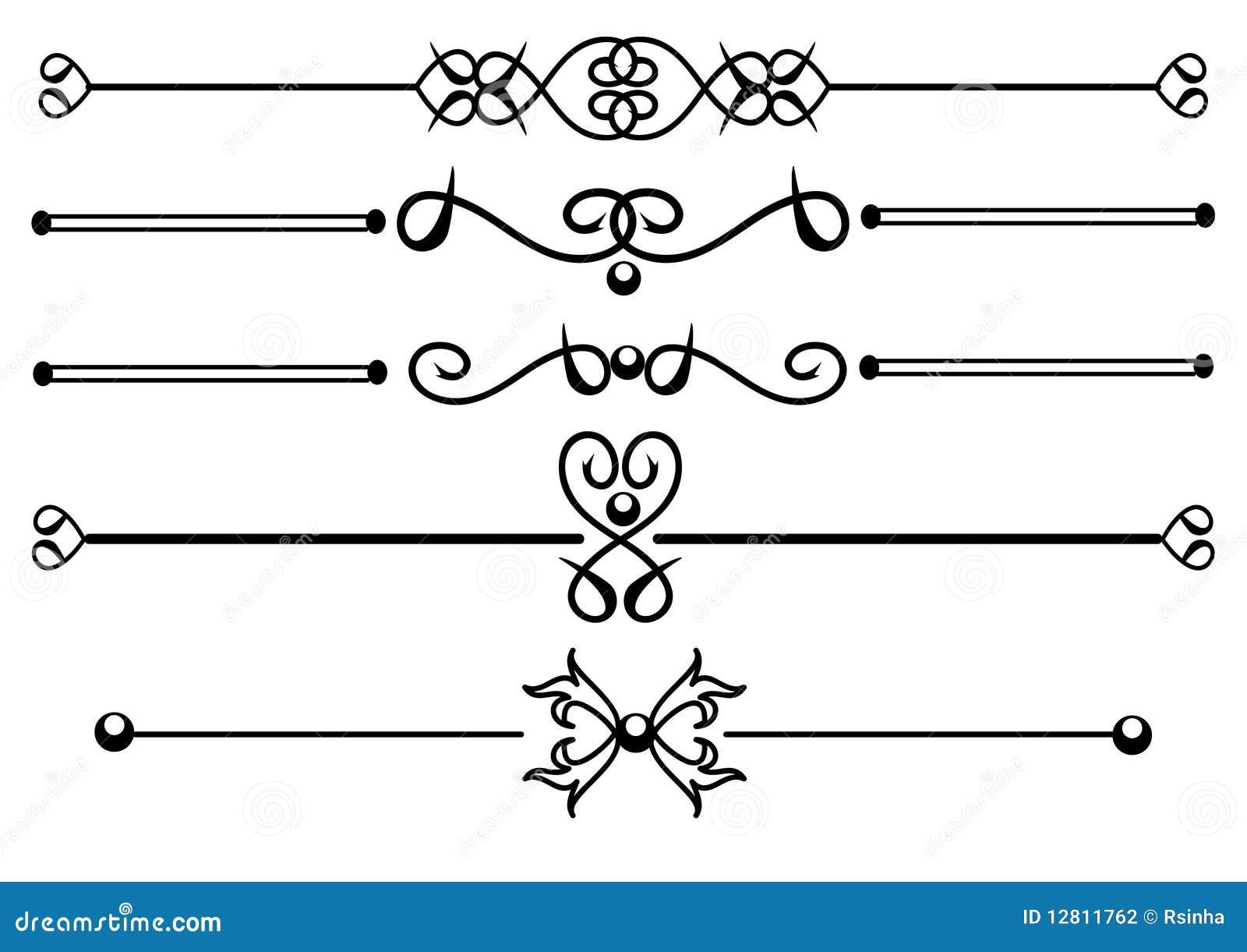 Linhas decorativas da régua