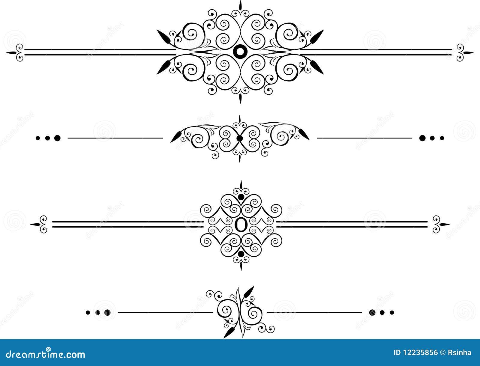 Imagem Vetorial Gratis Mapa Pinos Illustrator Titular: Linhas Decorativas Da Régua Imagem De Stock Royalty Free