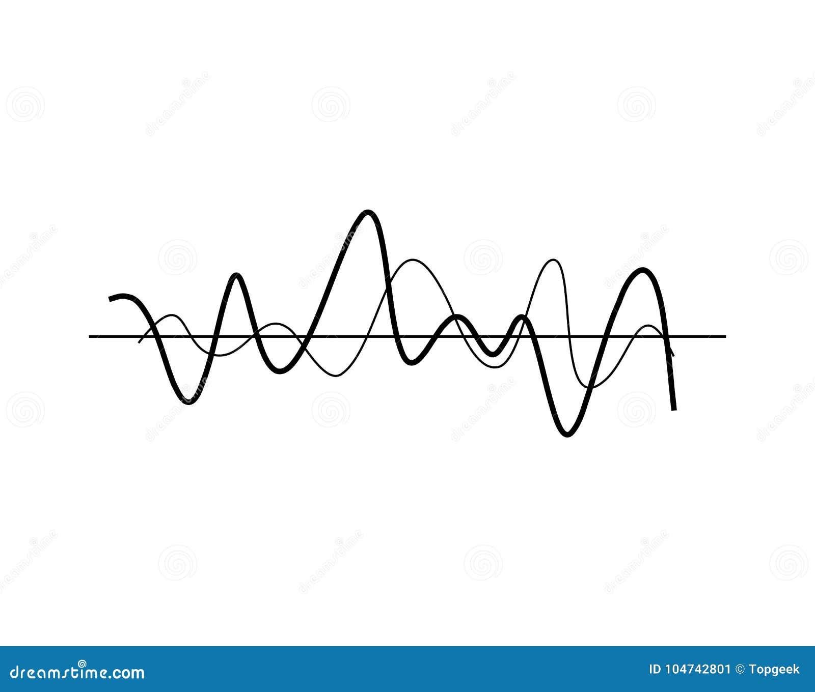 Linhas onduladas caóticas ilustração do vetor do ícone