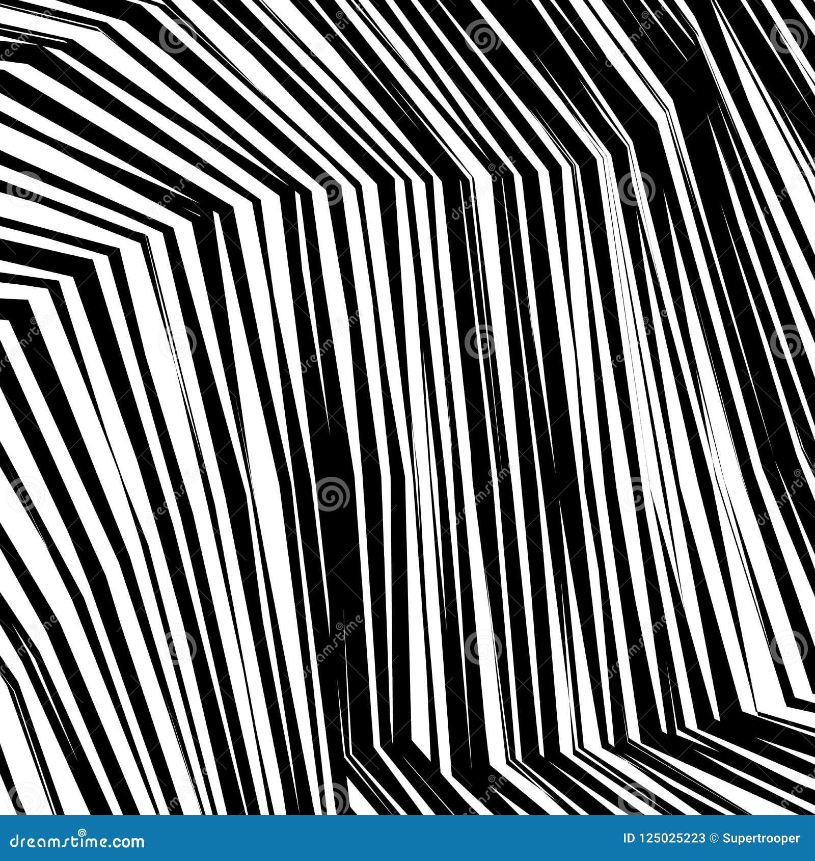 Linhas preto e branco entortadas sumário fundo