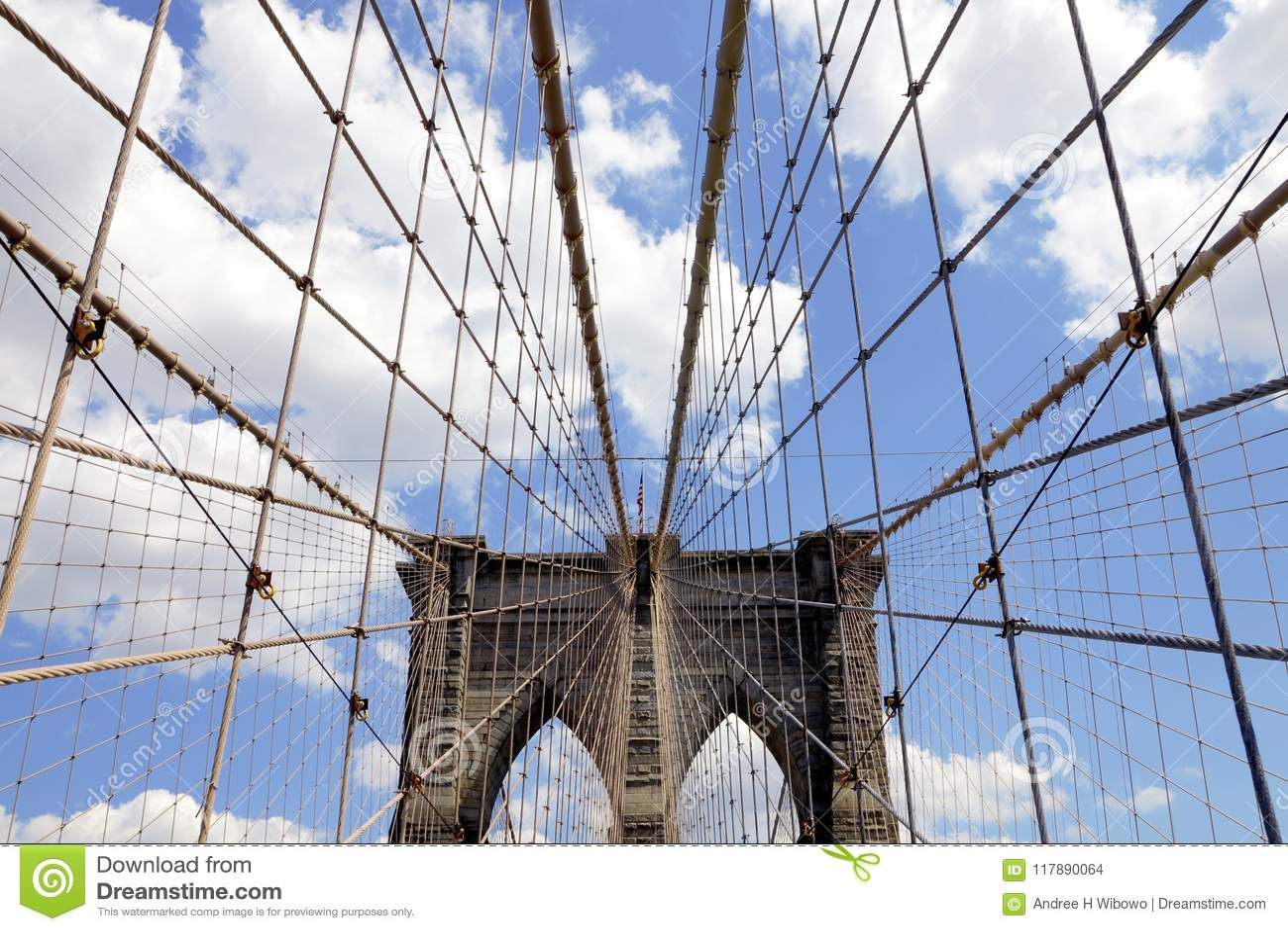Linhas principais da ponte de Brooklyn