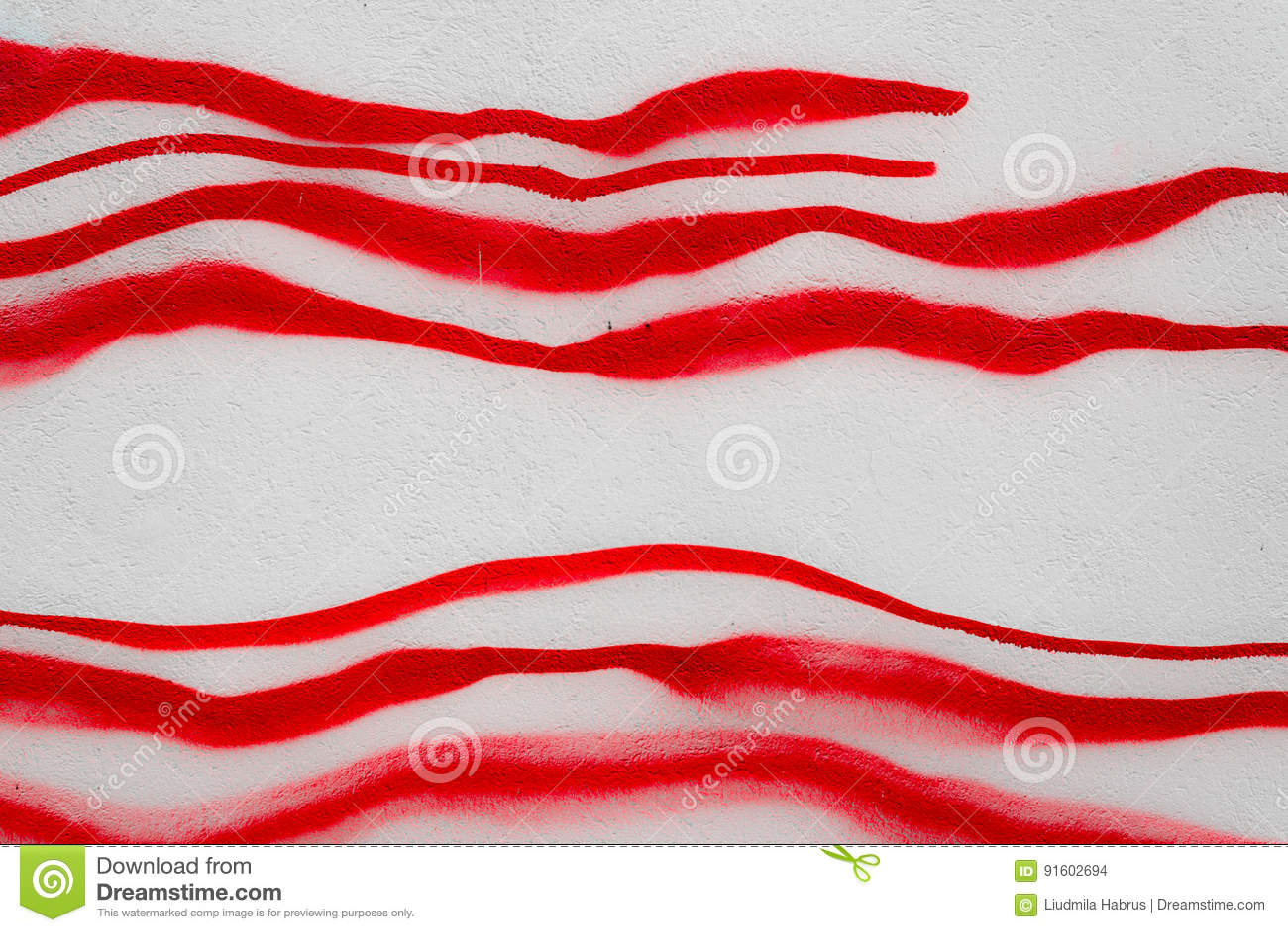 Linhas vermelhas tiradas com pintura