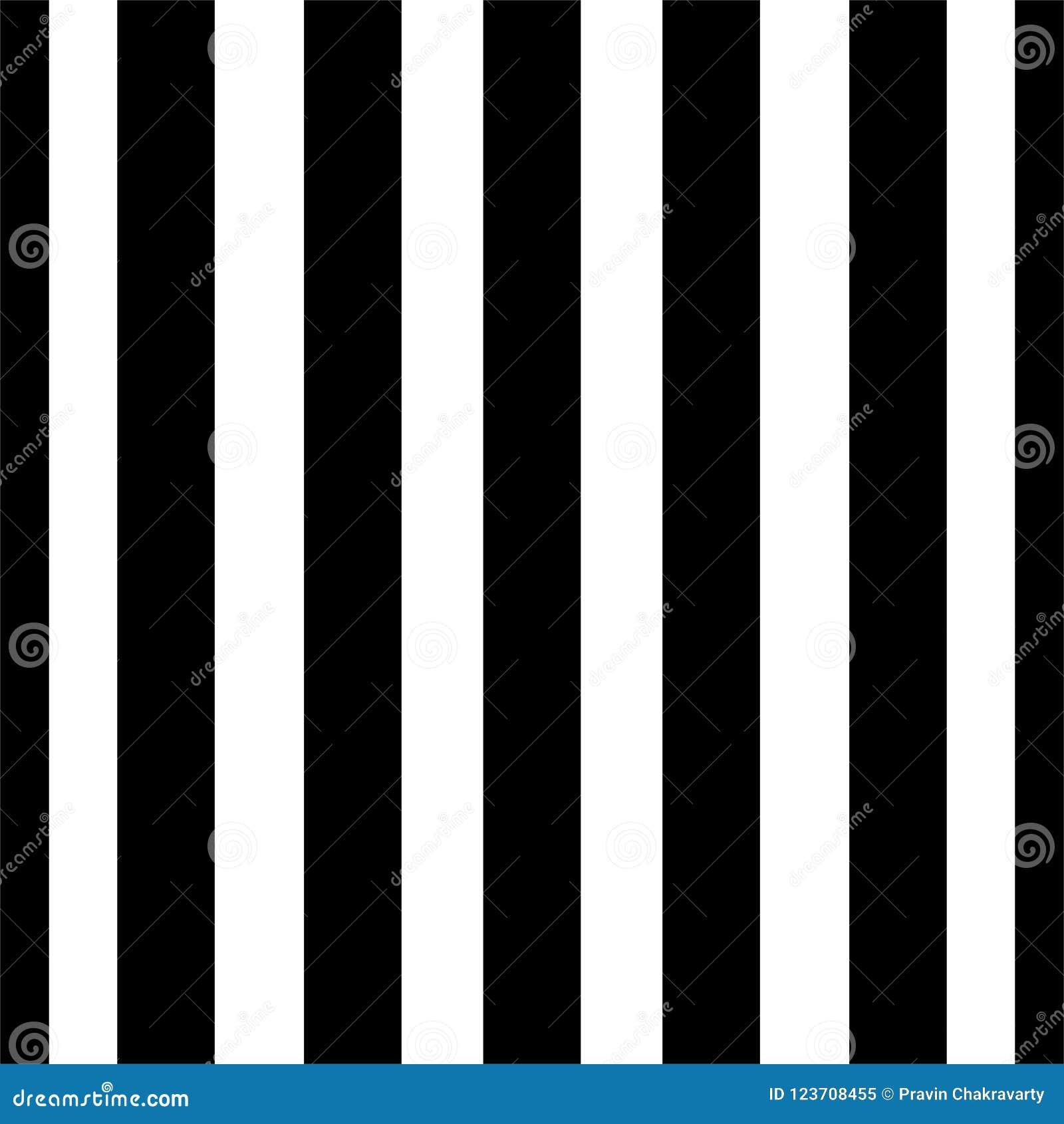 Linhas verticais teste padrão dos pontos sem emenda do vetor preto e branco Papel de parede abstrato do fundo Ilustração do vetor