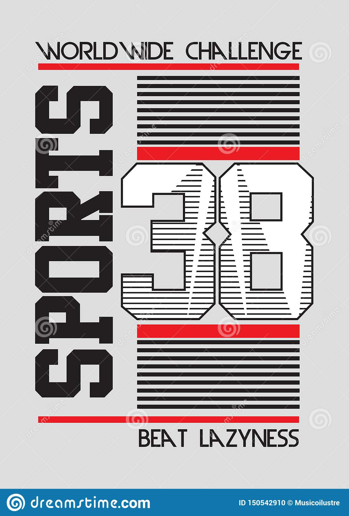 Linhas vetor dos esportes do time do colégio do cartaz dos números
