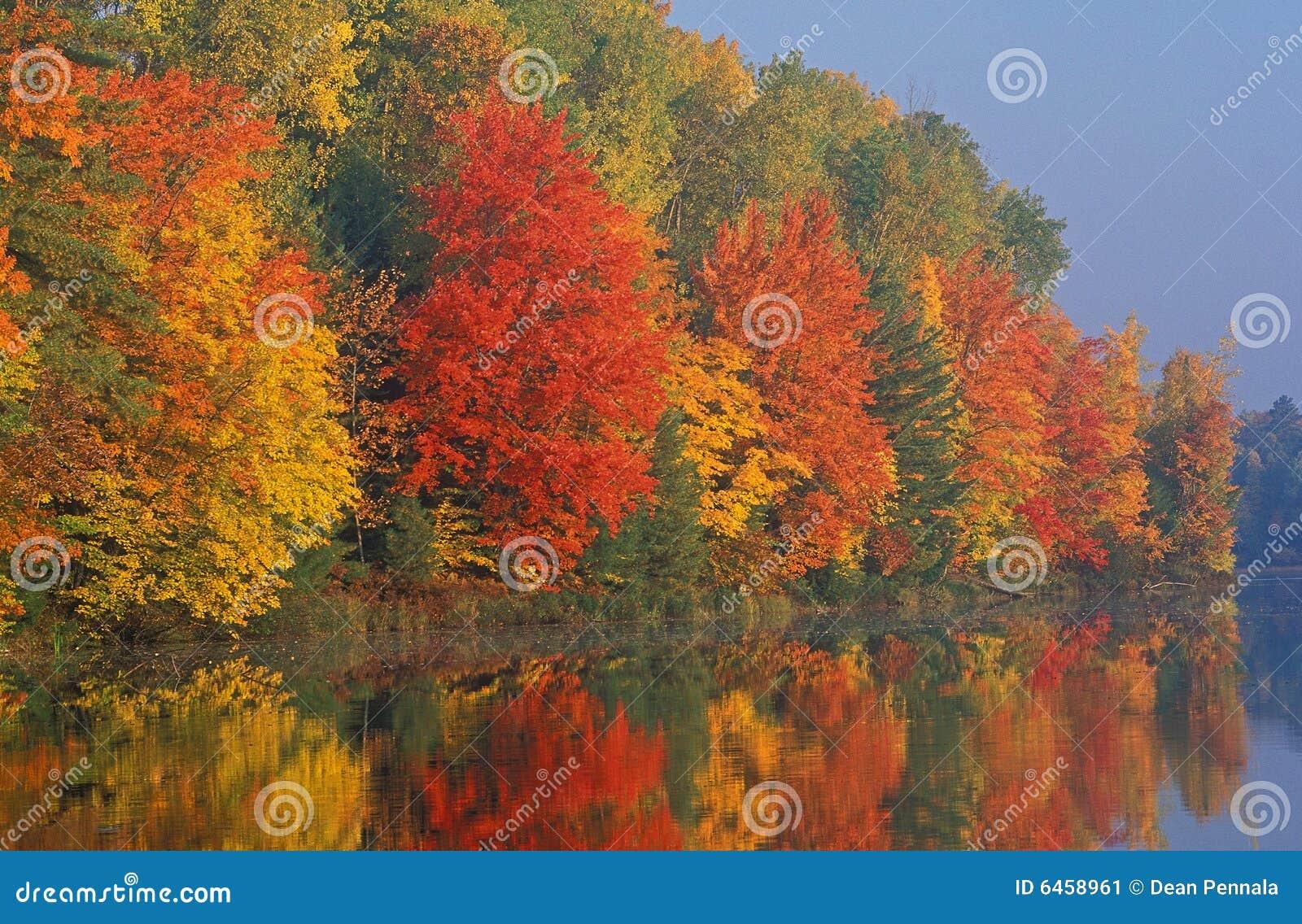 Linia brzegowa jesienią
