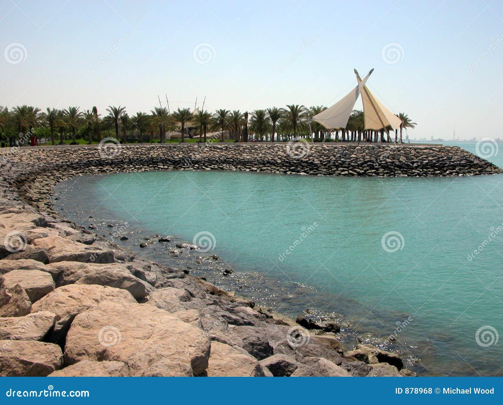 Linia brzegowa Kuwait miasto.