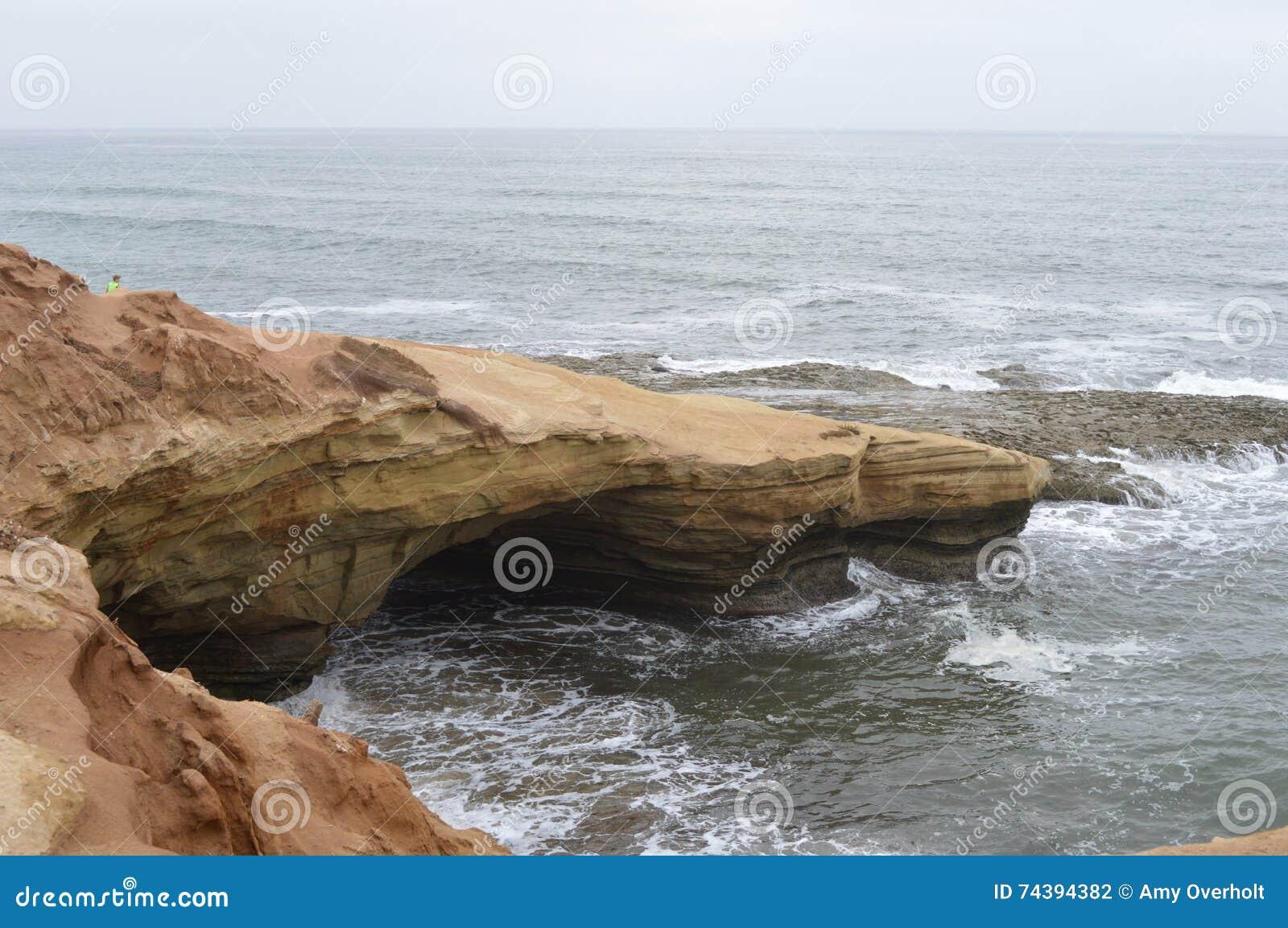 Linia brzegowa ocean Pacific