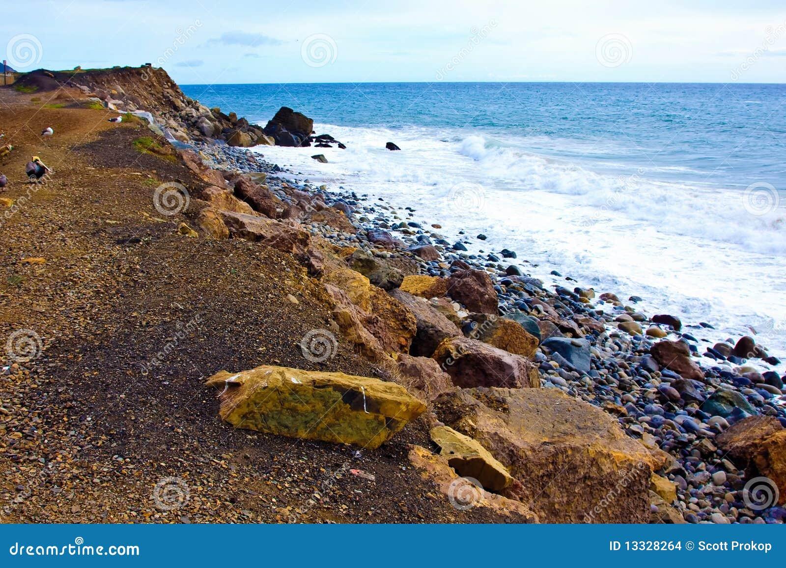 Linia brzegowa plażowy ocean Pacific