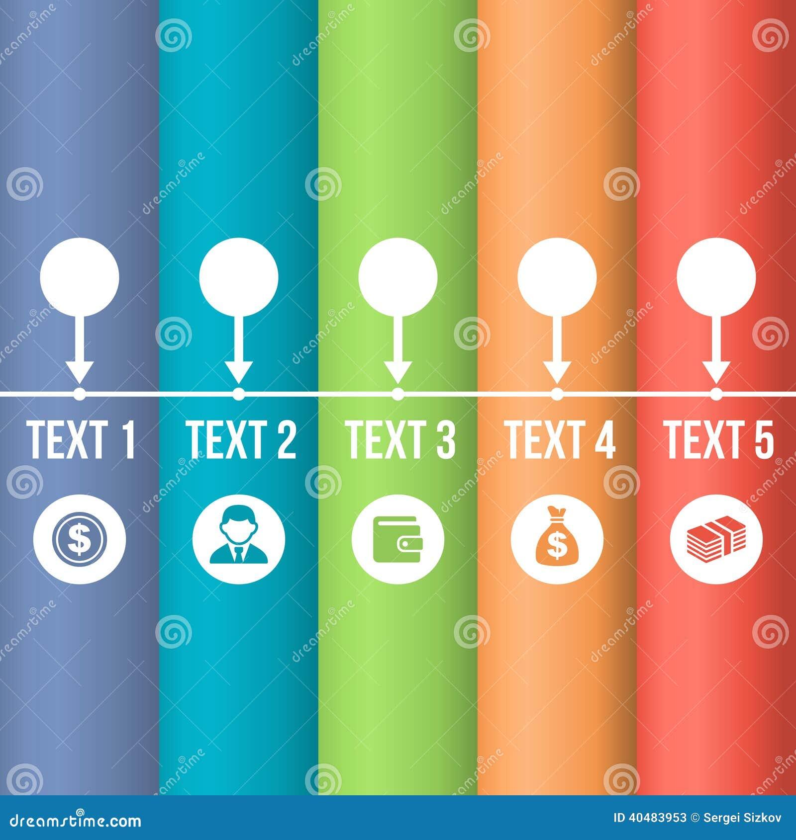 Linia czasu Infographic z Biznesowymi ikonami